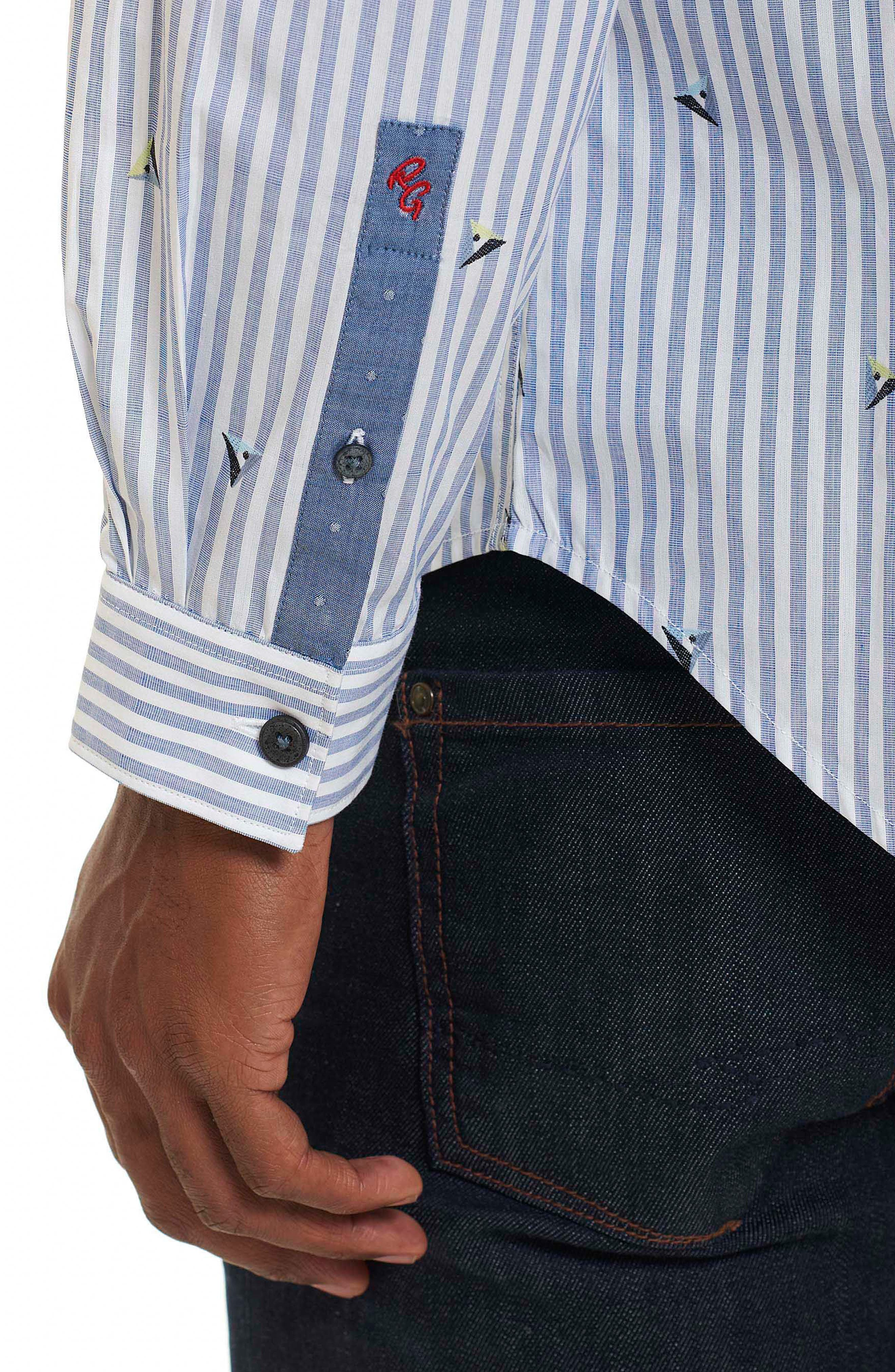 Alternate Image 3  - Robert Graham Del Ray Oaks Stripe Sport Shirt