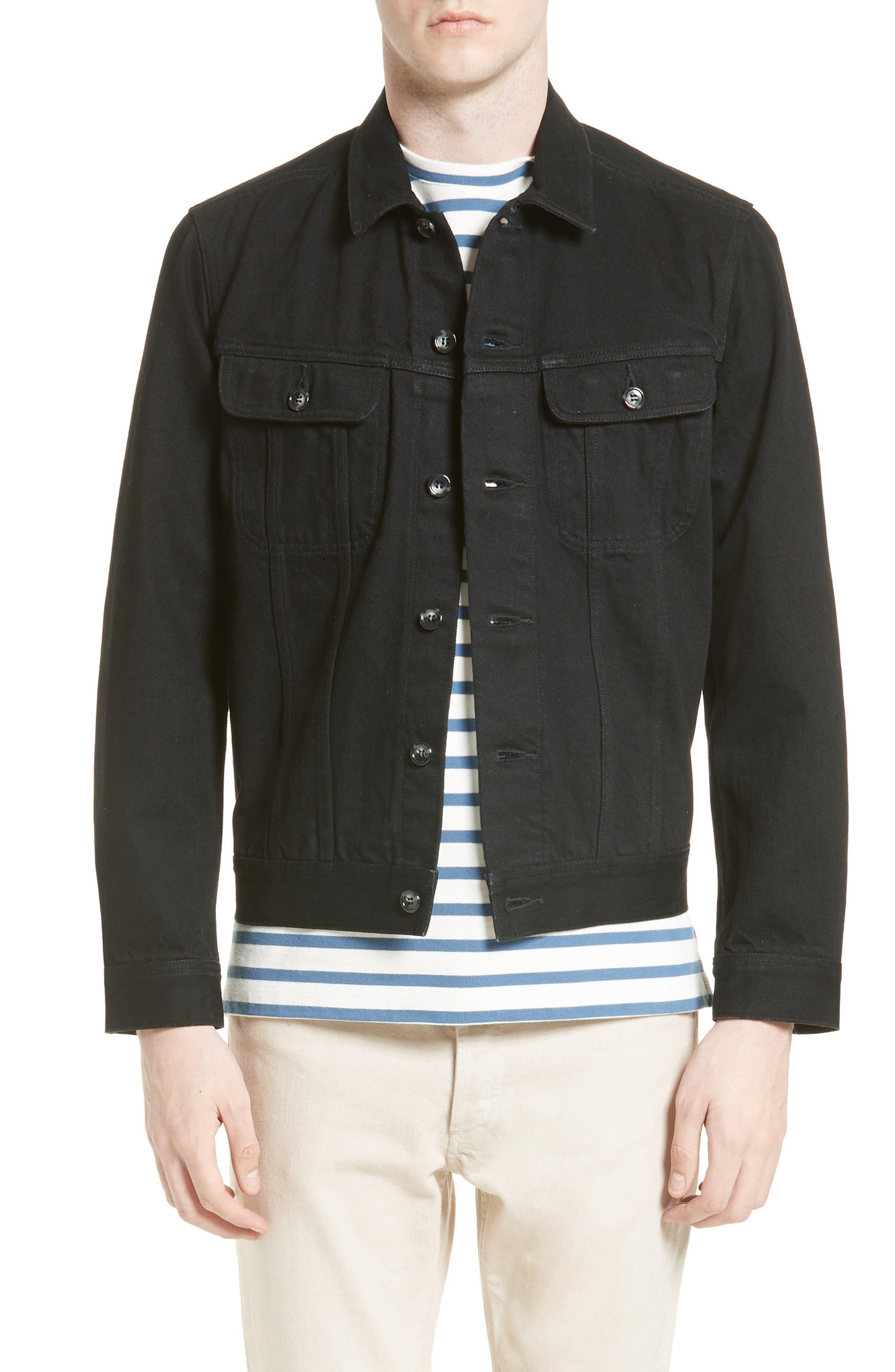 Veste Benjamin Denim Jacket,                         Main,                         color, Black