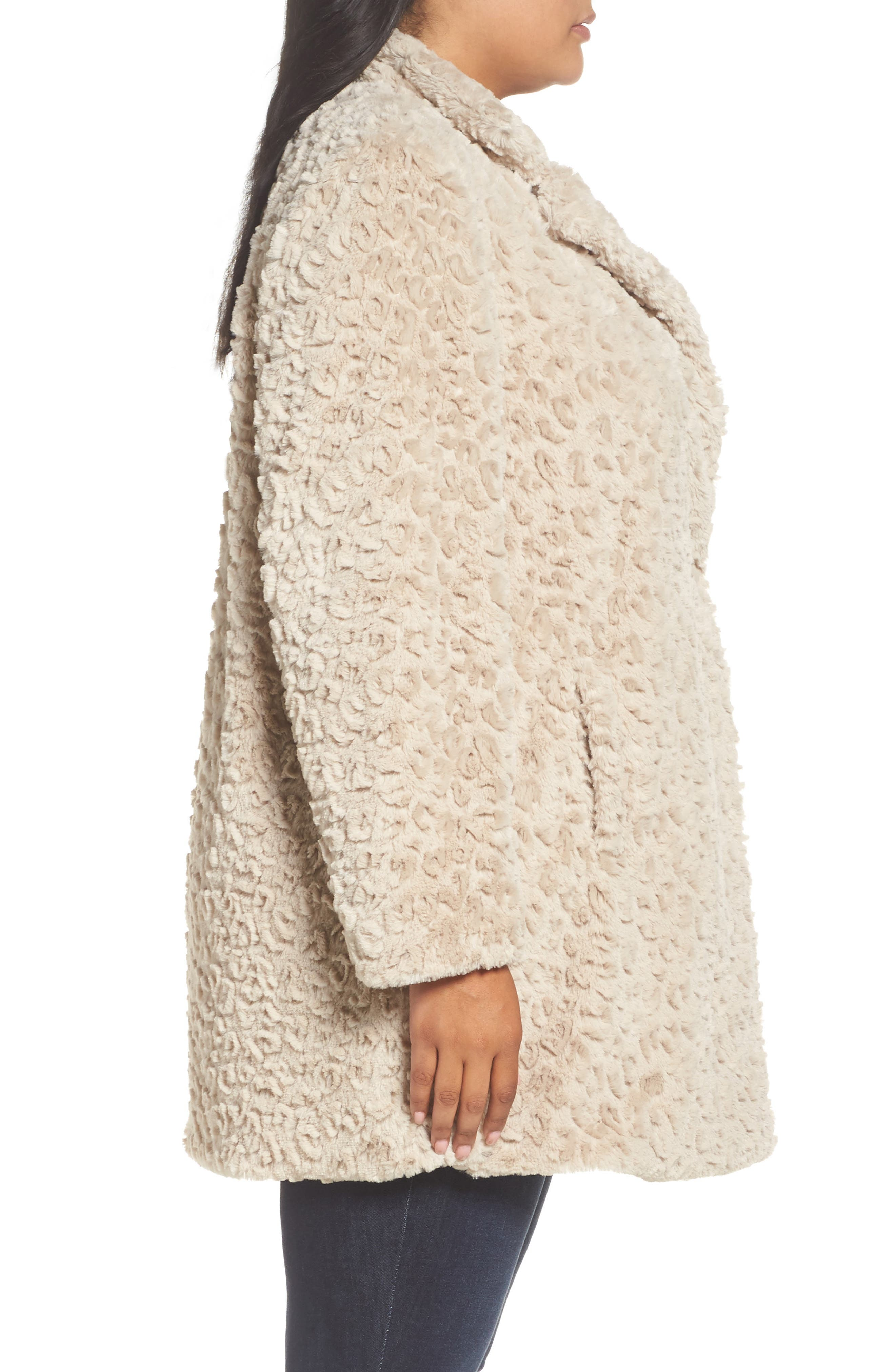 Alternate Image 3  - Kenneth Cole New York Faux Fur Jacket (Plus Size)