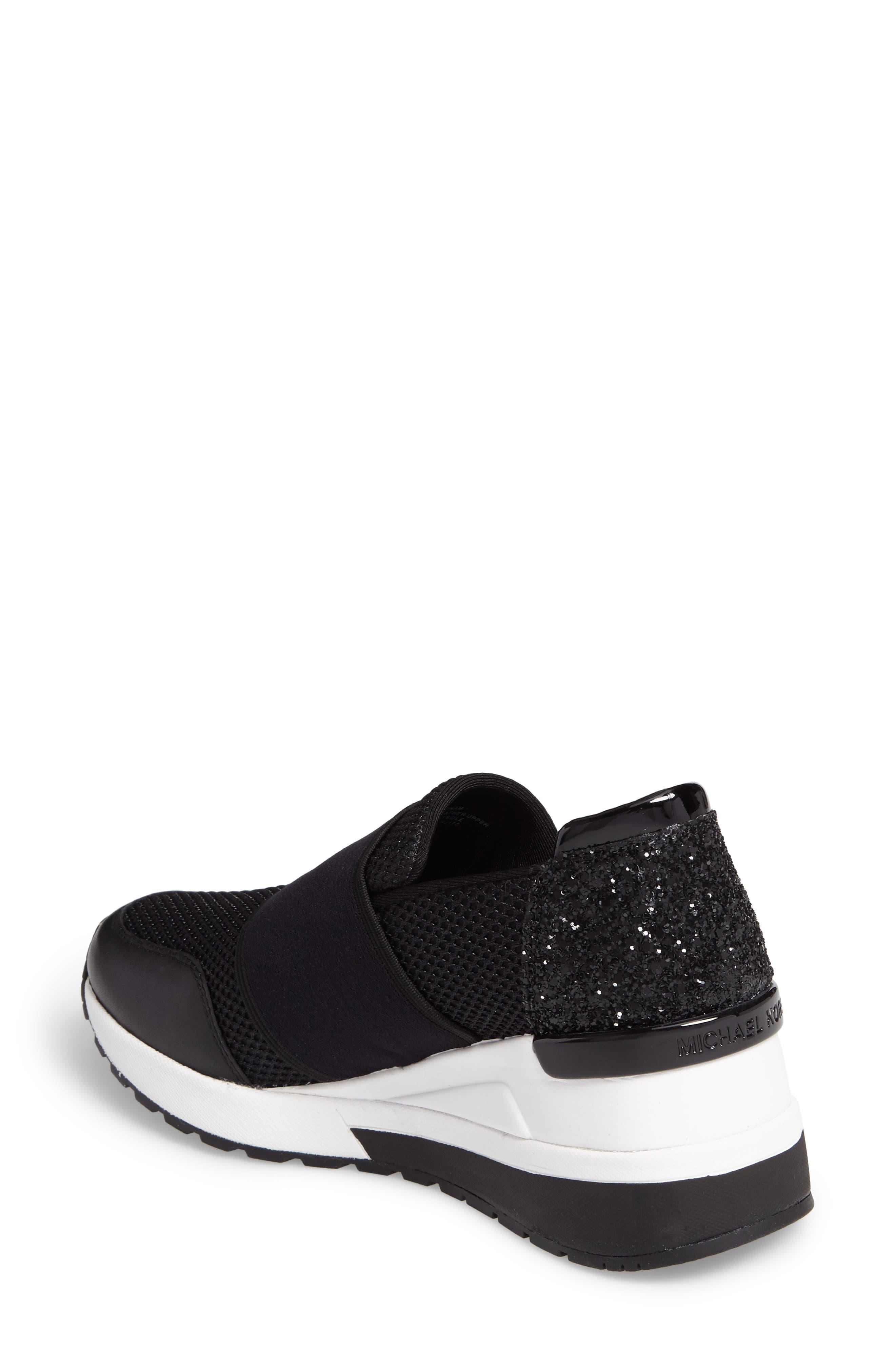 Alternate Image 2  - MICHAEL Michael Kors Felix Slip-On Glitter Sneaker (Women)