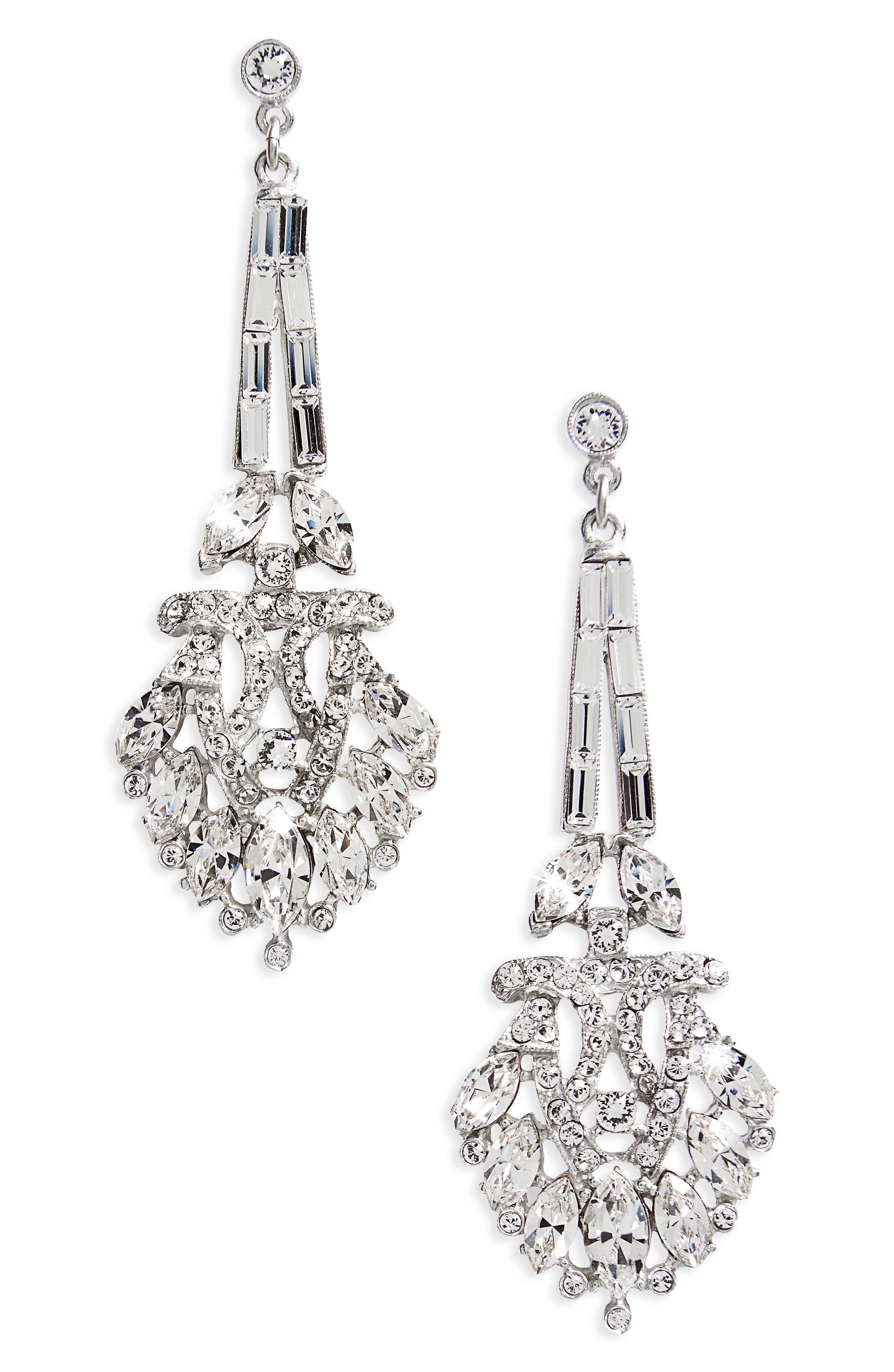 Ben-Amun Crystal Drop Earrings