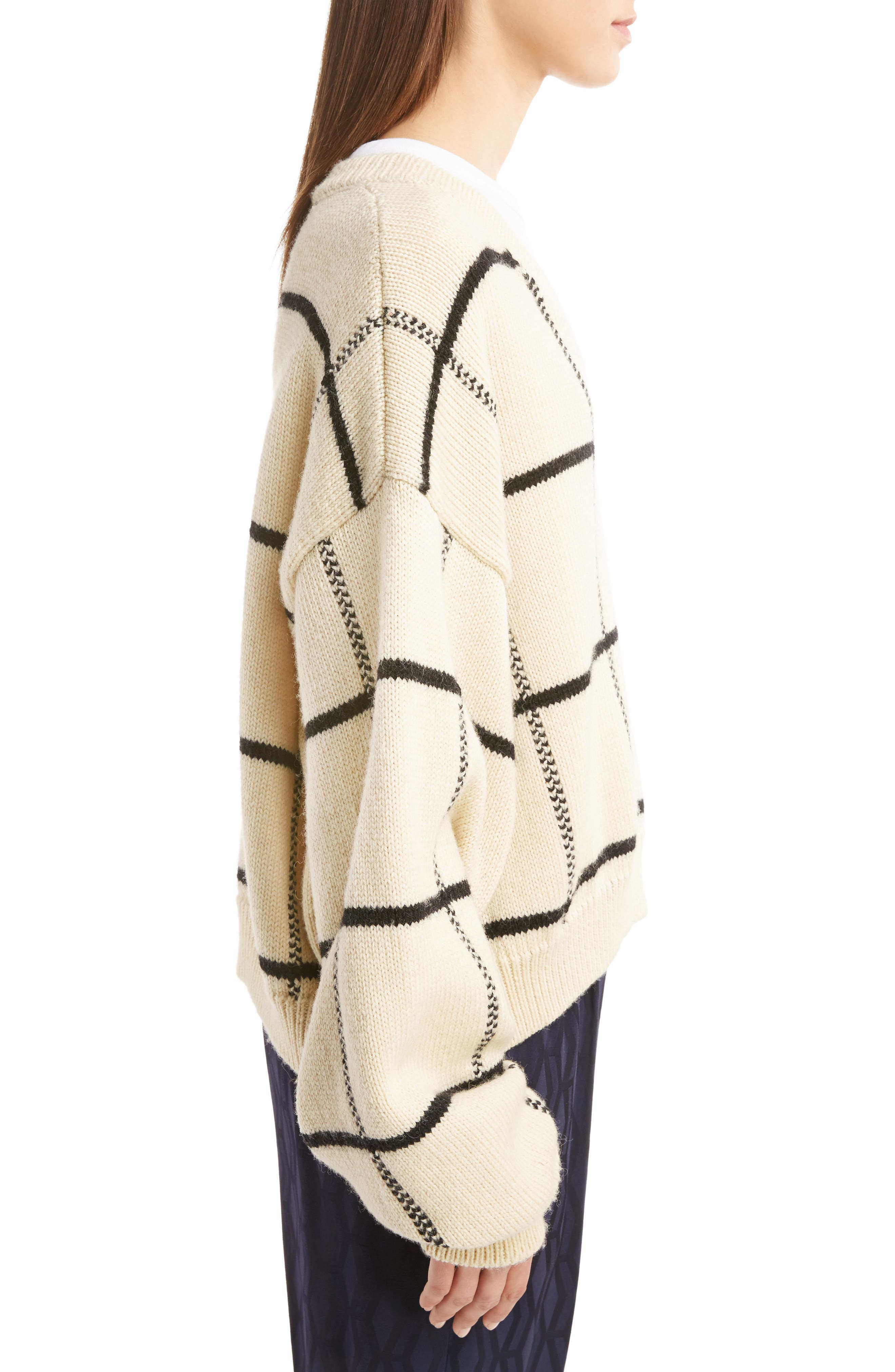 Alternate Image 4  - Dries Van Noten Windowpane Knit Wool Sweater