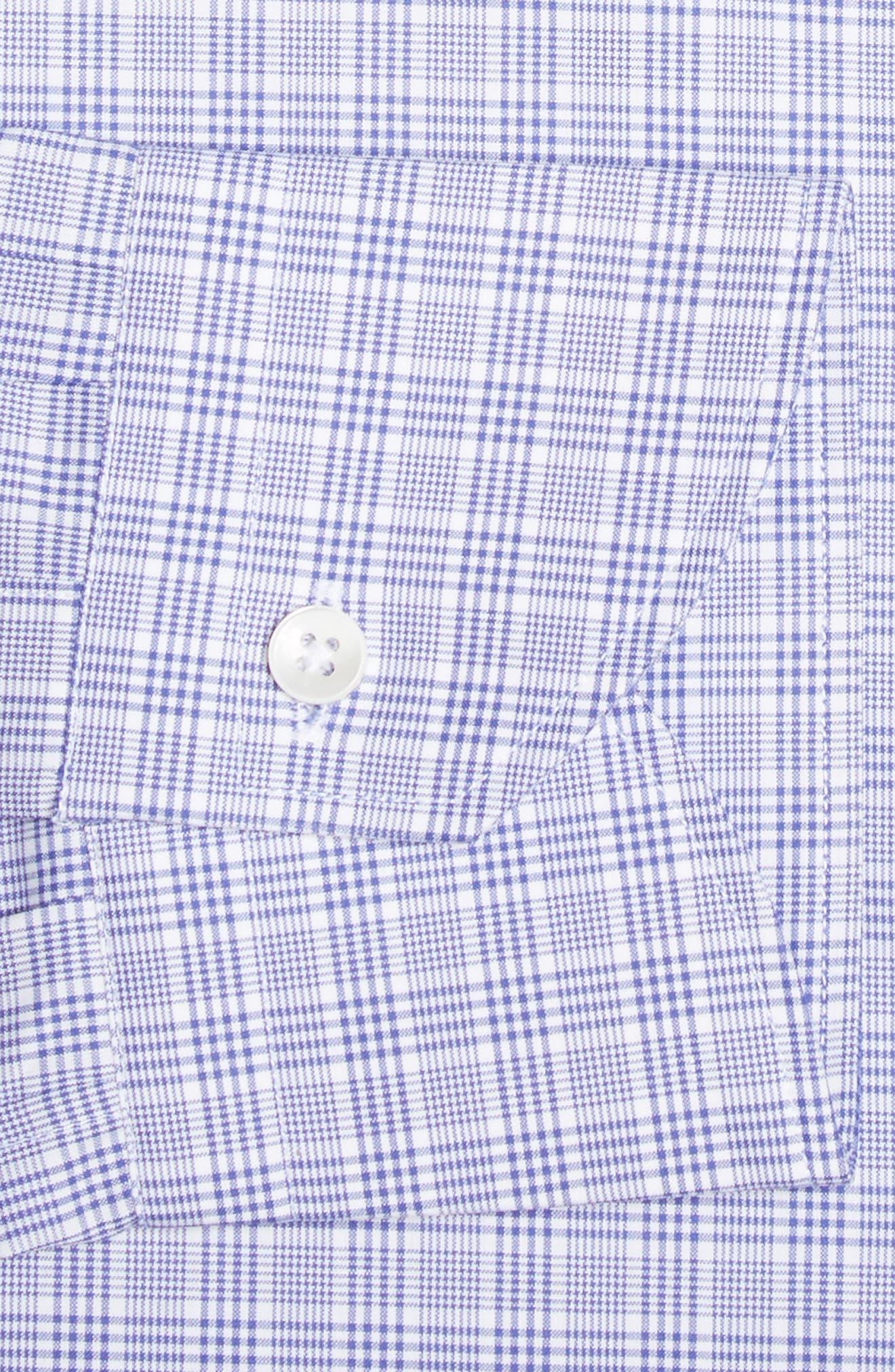 Alternate Image 4  - Canali Regular Fit Plaid Dress Shirt