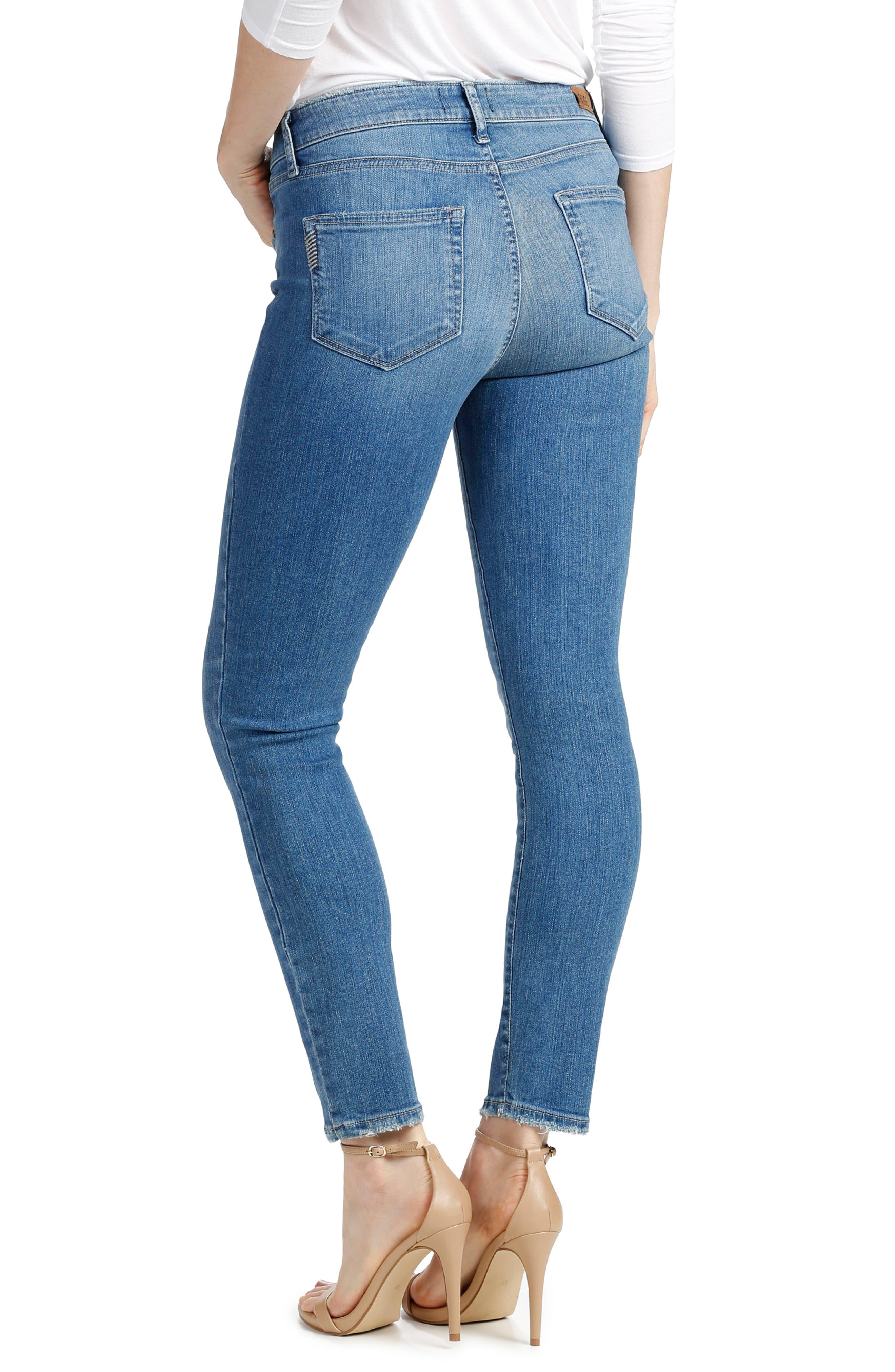 Alternate Image 3  - PAIGE Hoxton High Waist Ankle Skinny Jeans (Evelina)