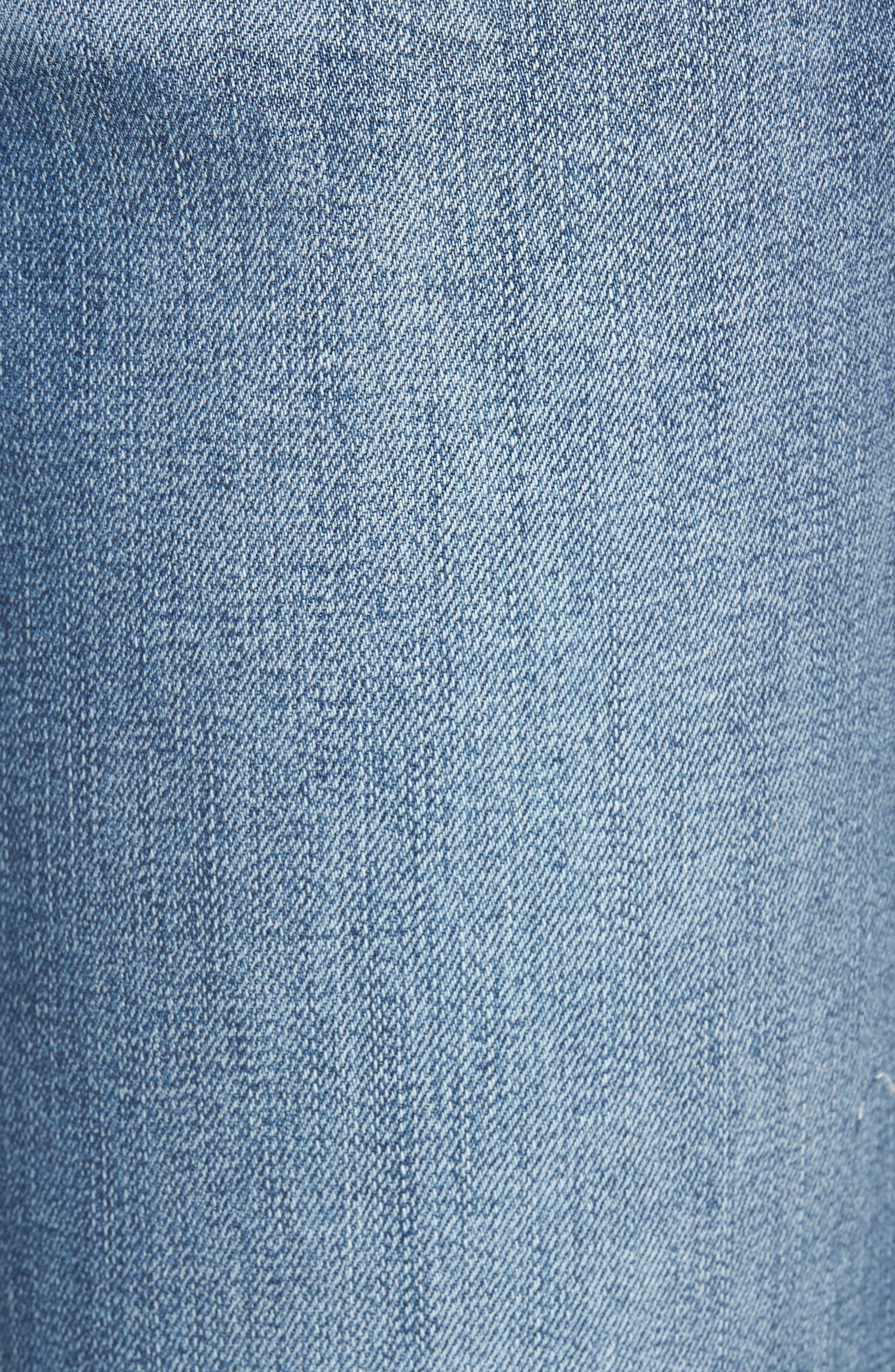 Alternate Image 5  - Wit & Wisdom Embroidered Slim Crop Jeans (Nordstrom Exclusive)