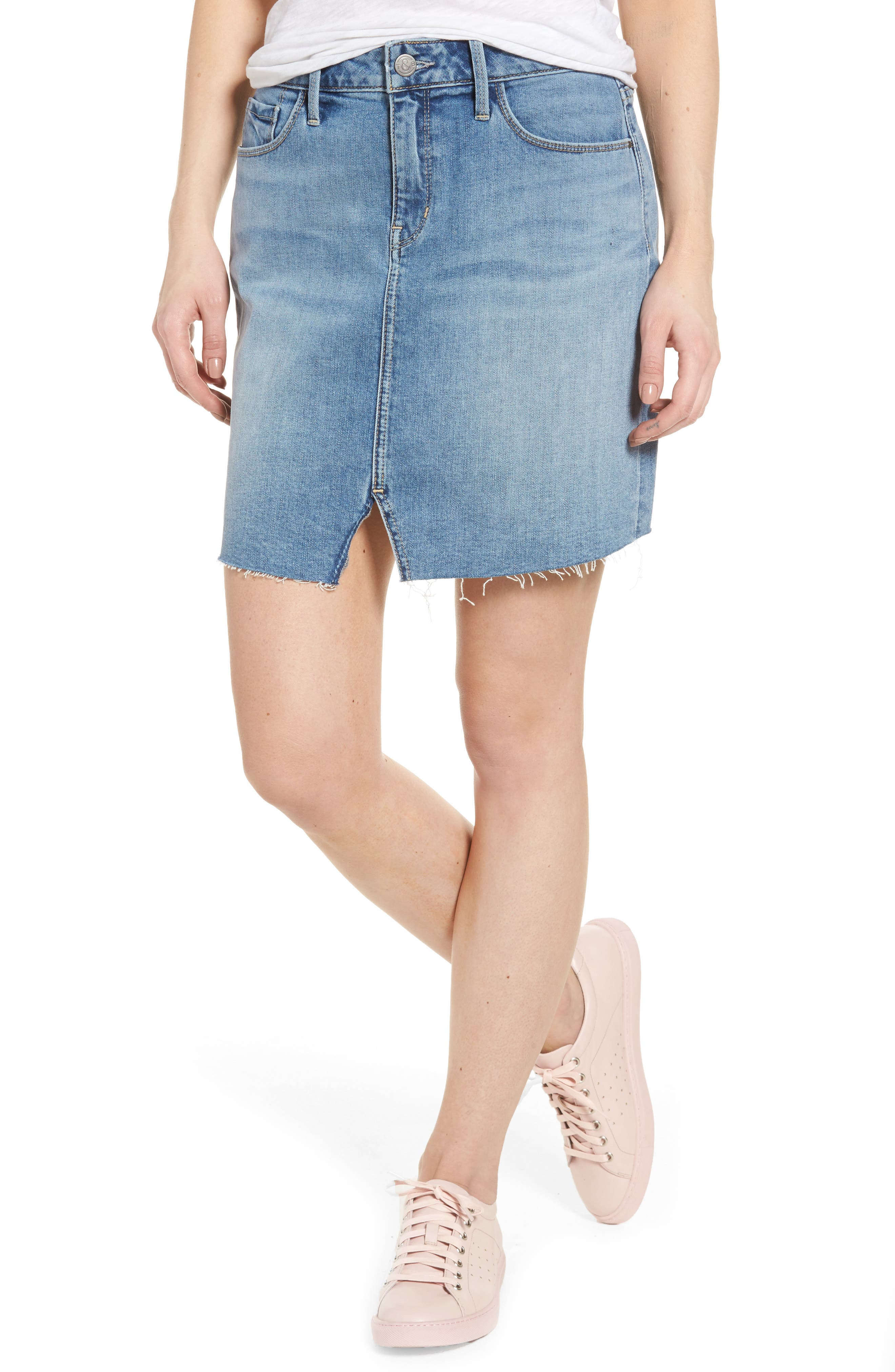 TREASURE & BOND Denim Miniskirt