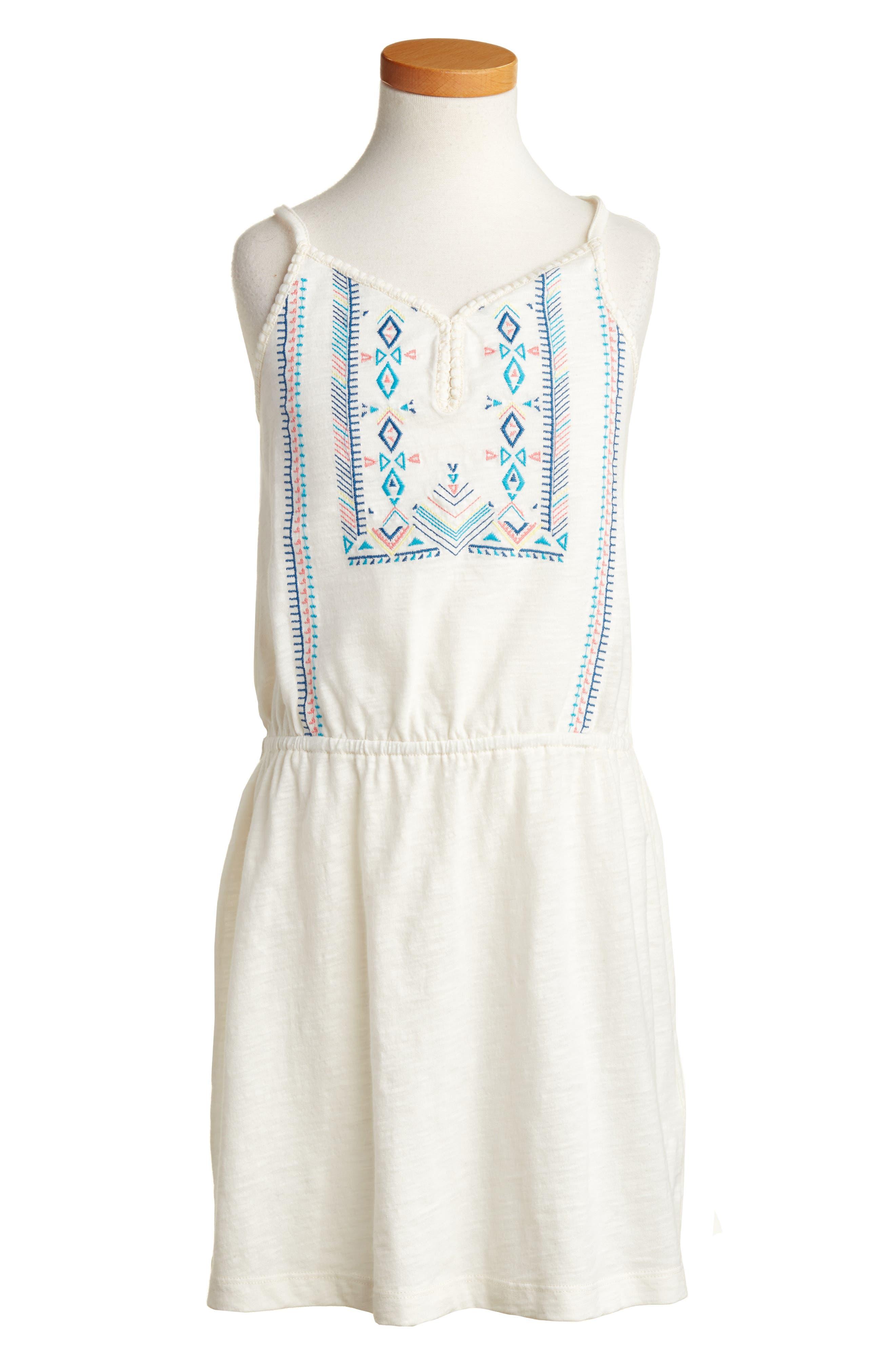 Roxy Nice Cream Embroidered Dress (Big Girls)
