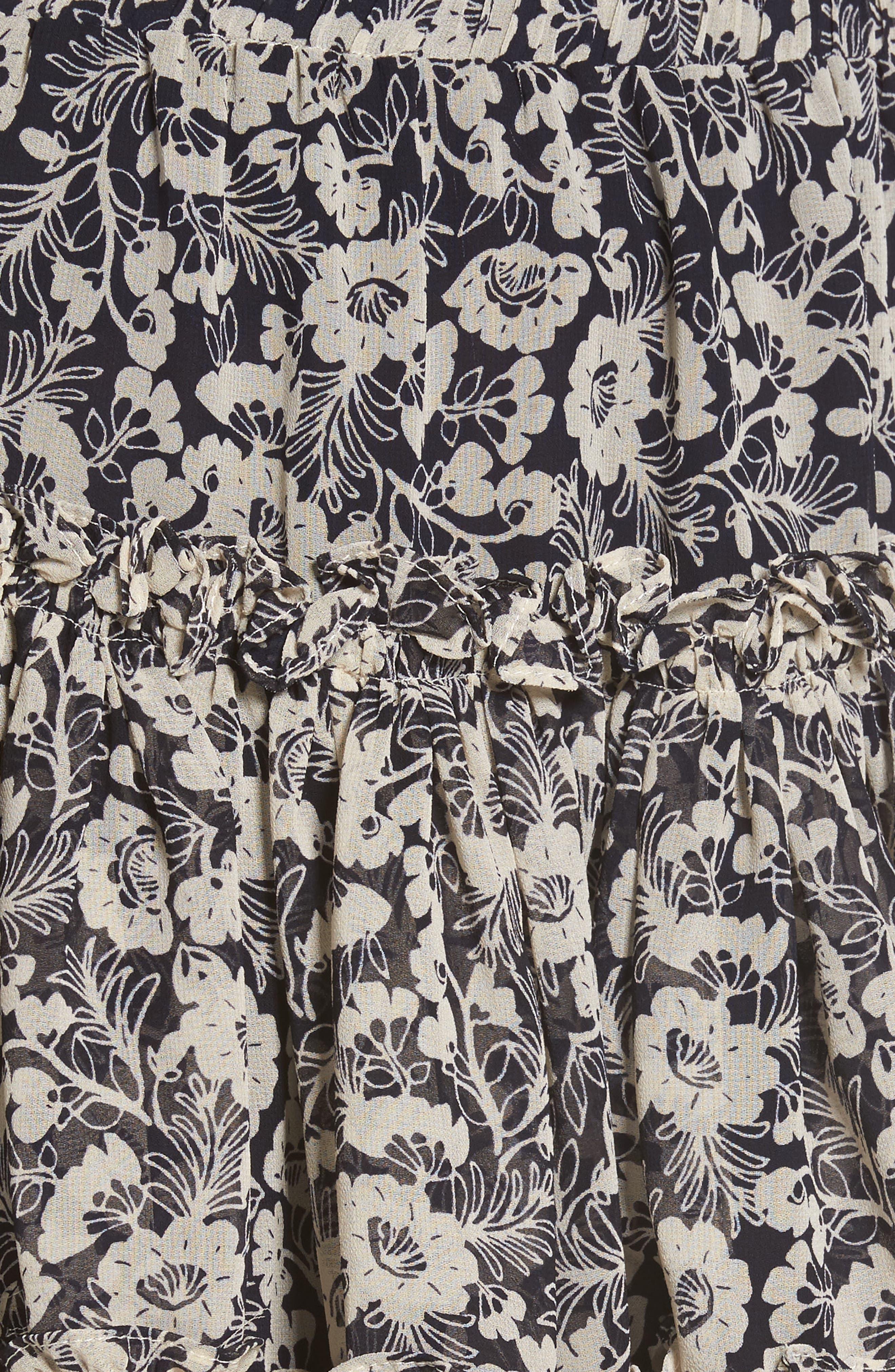 Alternate Image 5  - MISA Los Angeles Marion Floral Print Miniskirt