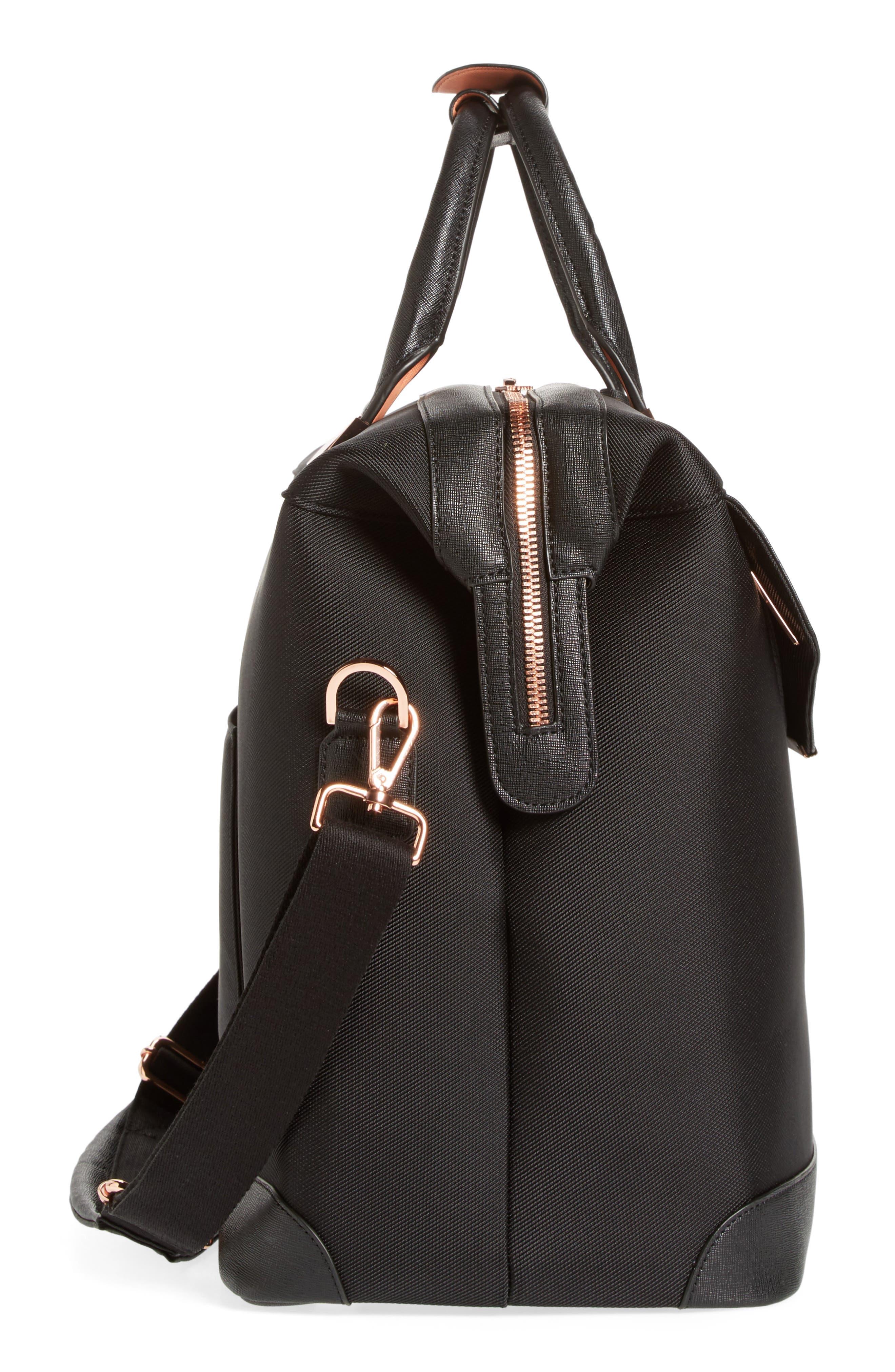 Small Albany Duffel Bag,                             Alternate thumbnail 4, color,                             Black