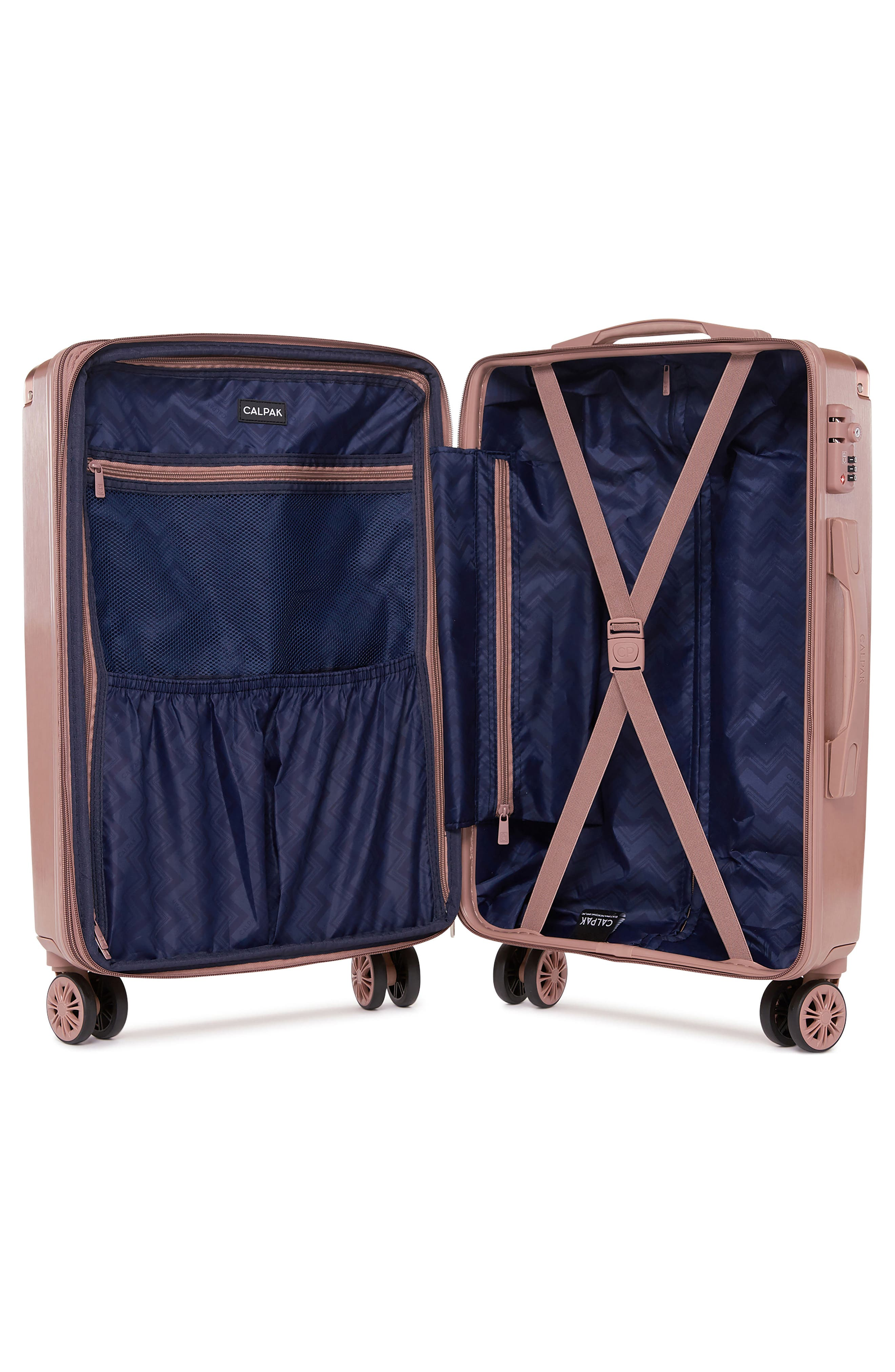 Ambeur 20-Inch Rolling Spinner Carry-On,                             Alternate thumbnail 2, color,                             Rose Gold