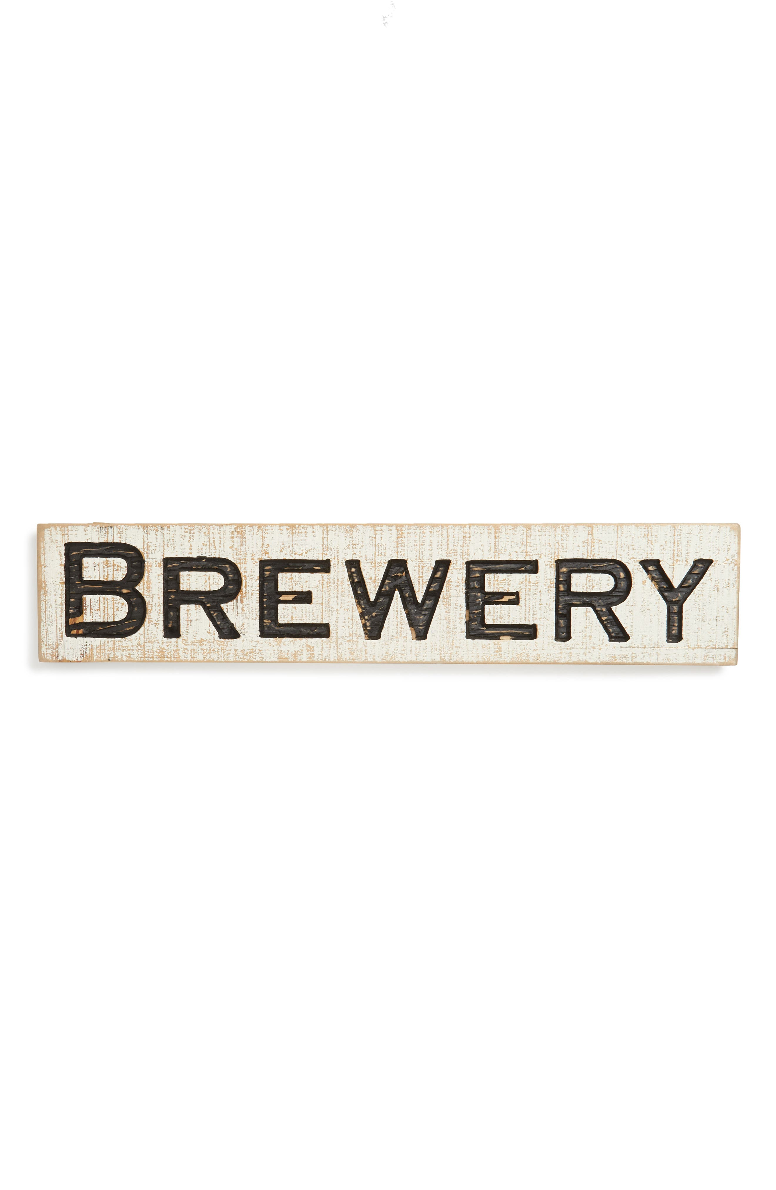 Farmhouse Brewery Sign,                         Main,                         color, White