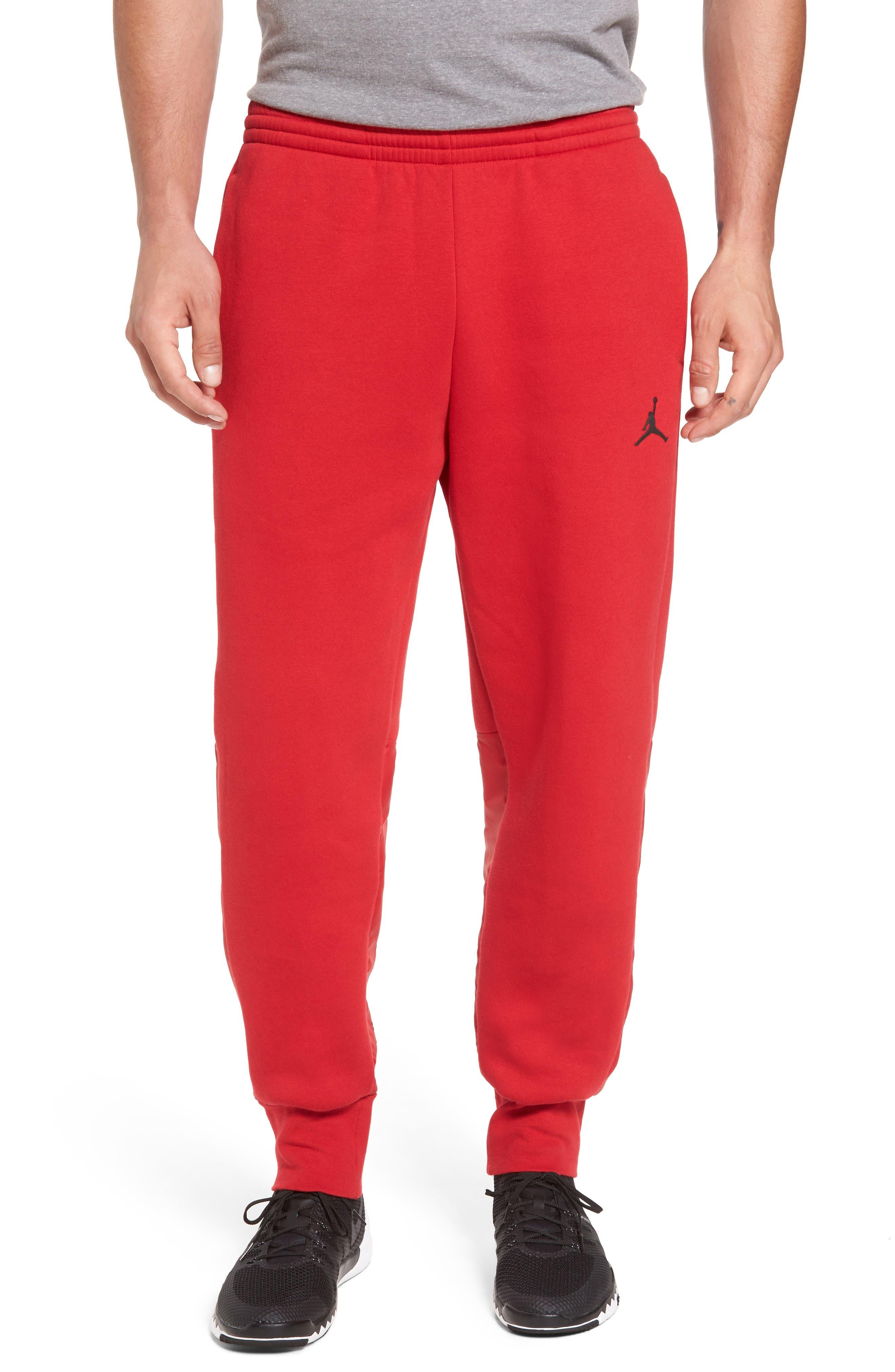 Jordan AJ11 Hybrid Pants,                         Main,                         color, Gym Red