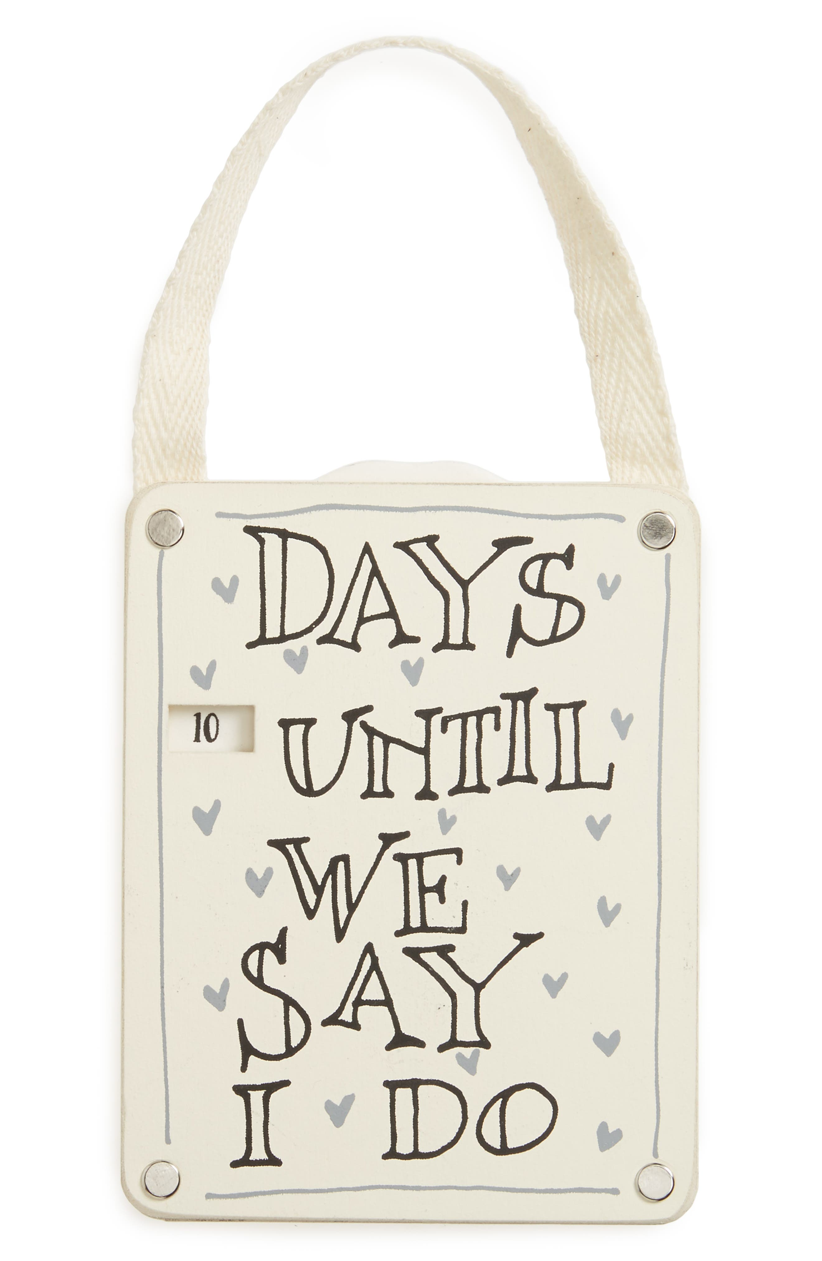 Countdown Until We Say I Do Sign,                         Main,                         color, Ivory