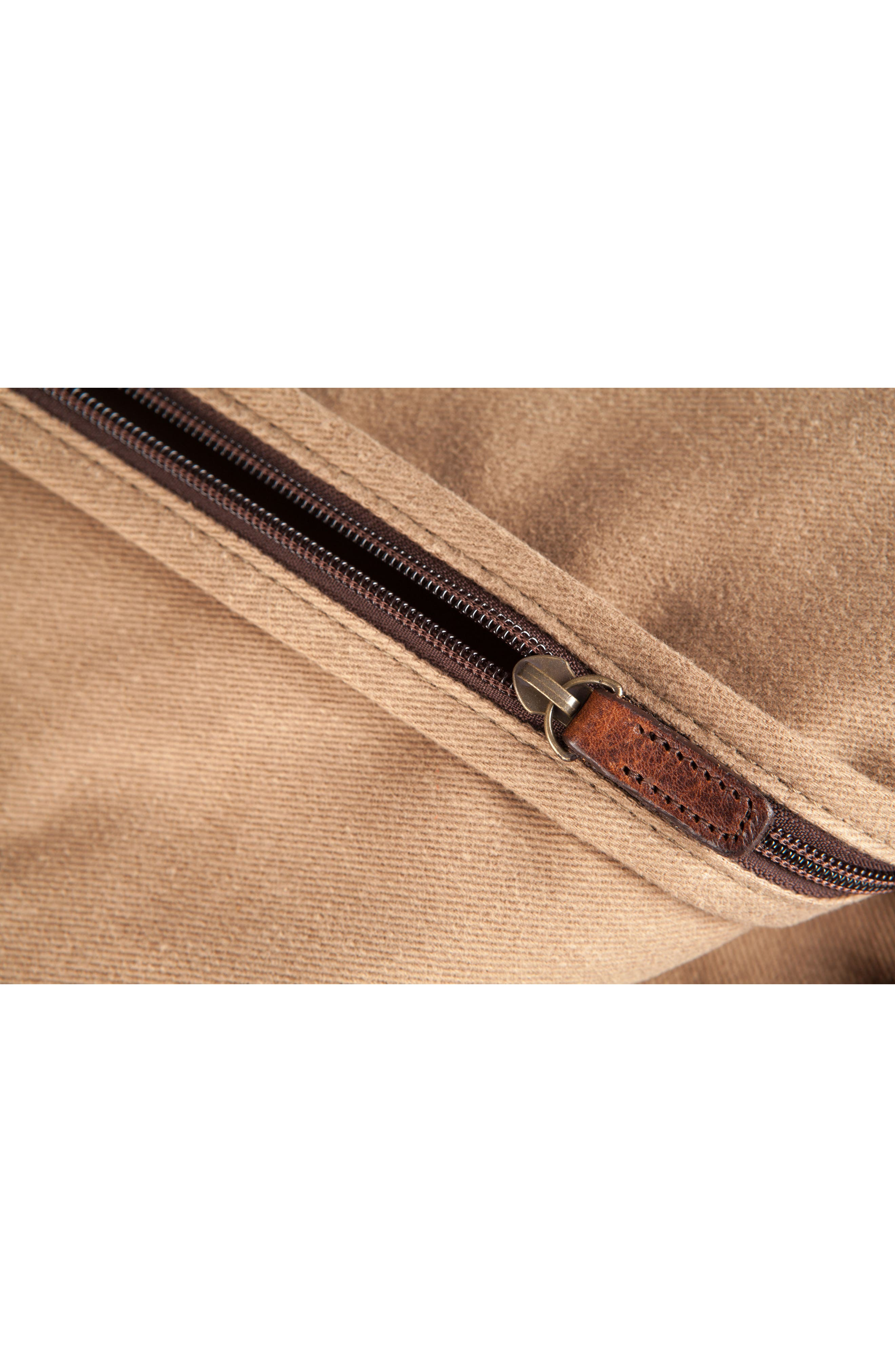 Holton Garment Bag,                             Alternate thumbnail 6, color,                             Brushed Tan Twill