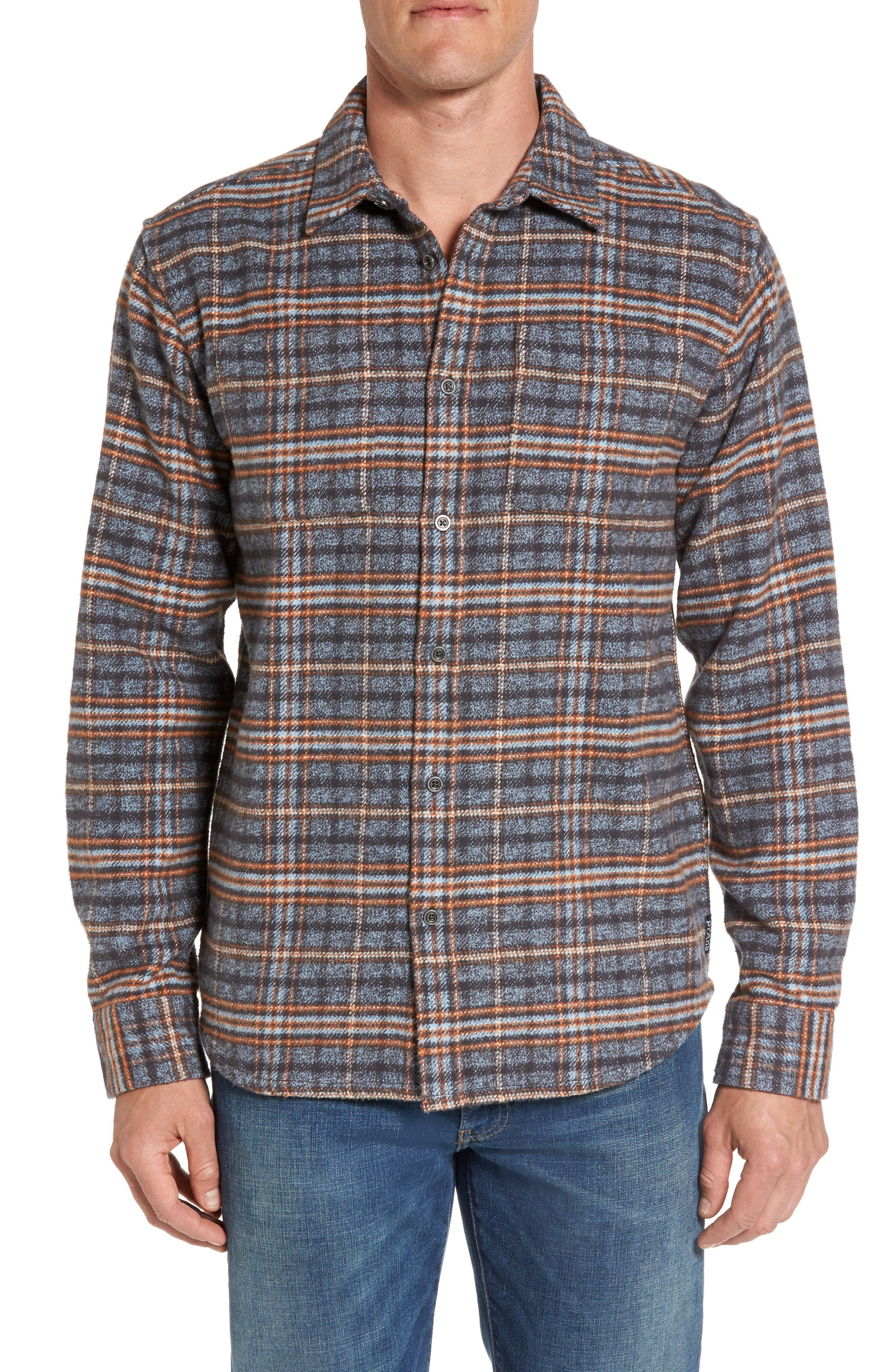 prAna Brayden Regular Fit Plaid Flannel Shirt