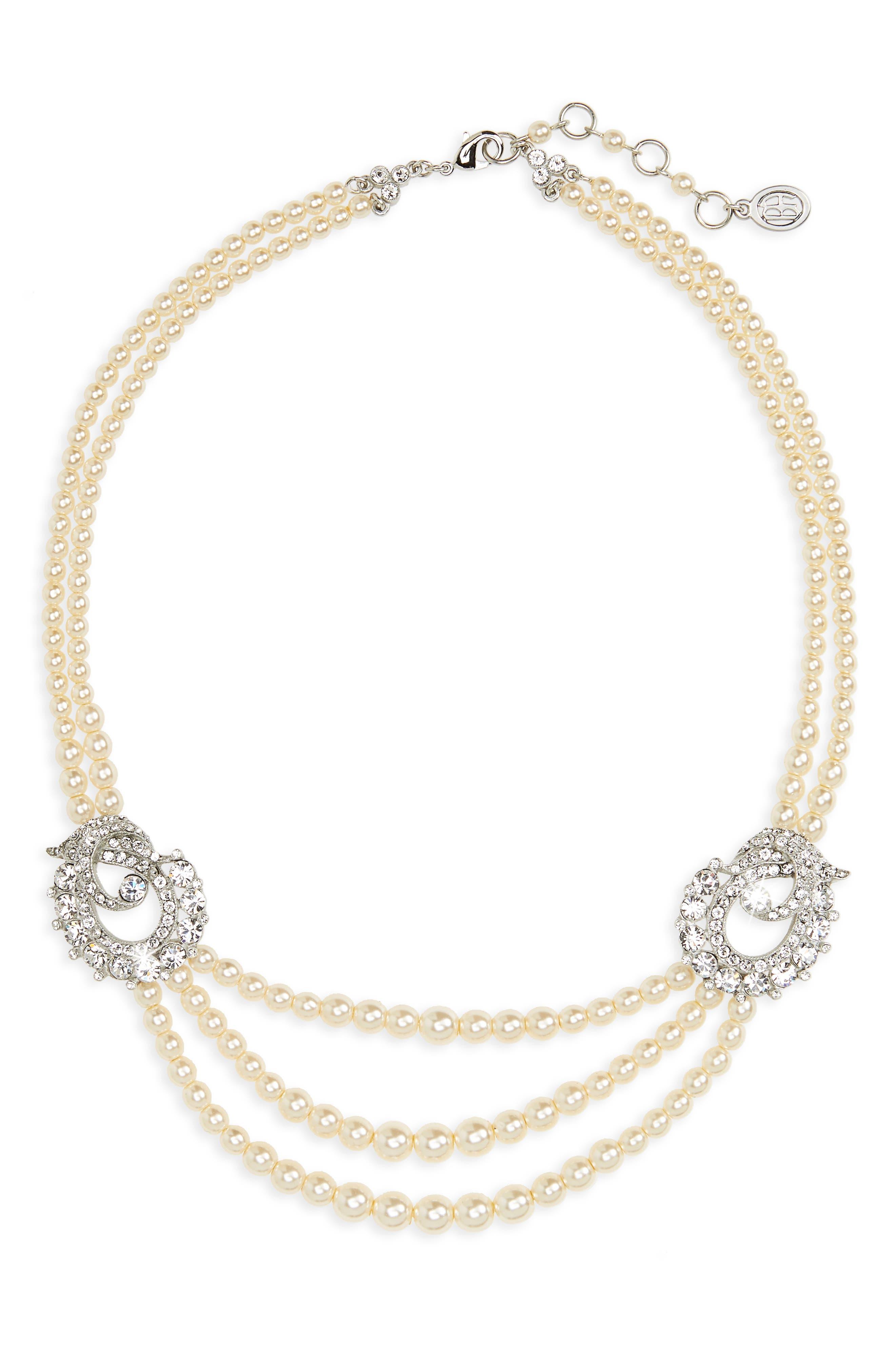 Ben-Amun Faux Pearl Multistrand Necklace