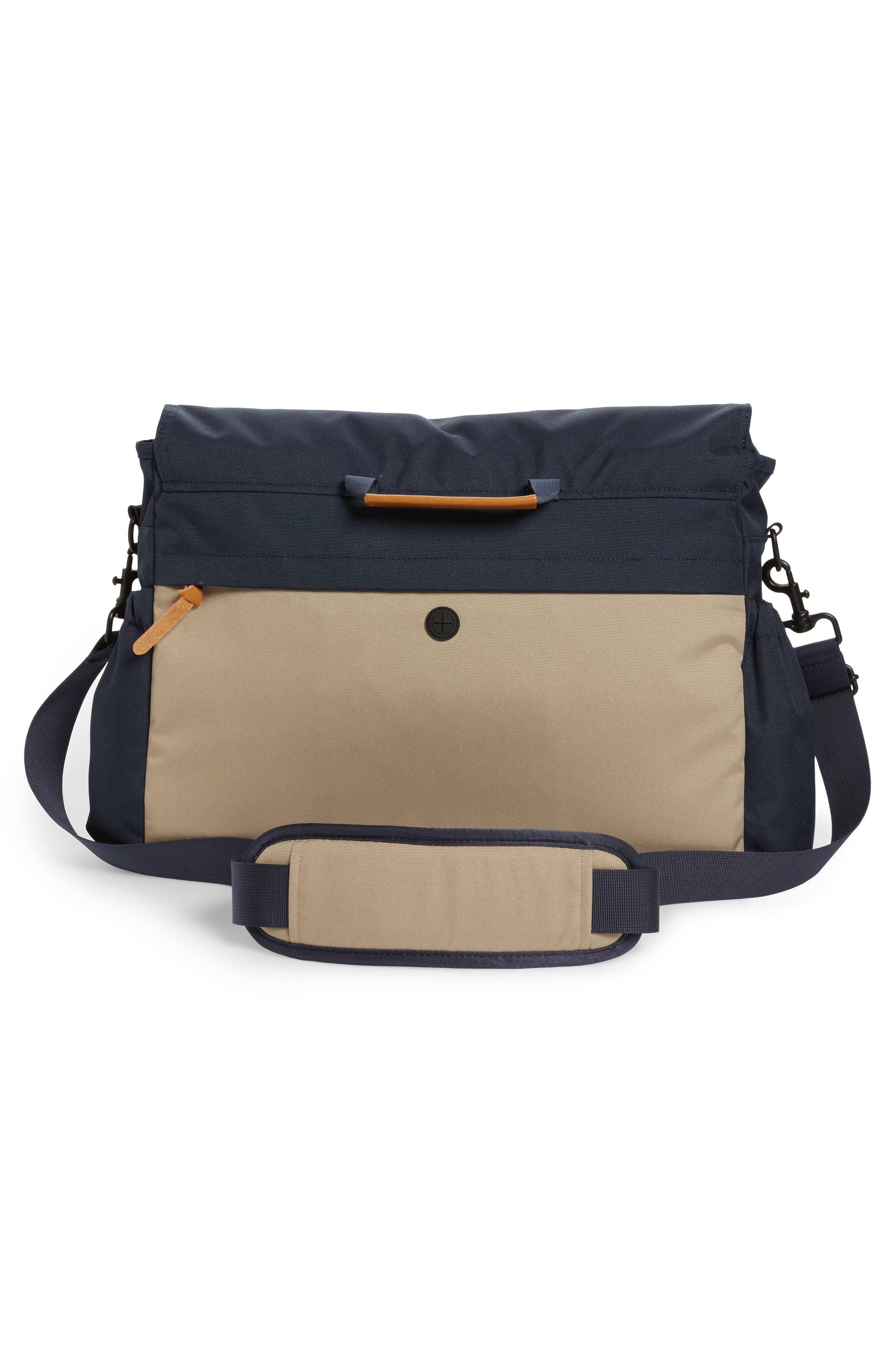 Crossridge Messenger Bag,                             Alternate thumbnail 3, color,                             Navy/ Tan