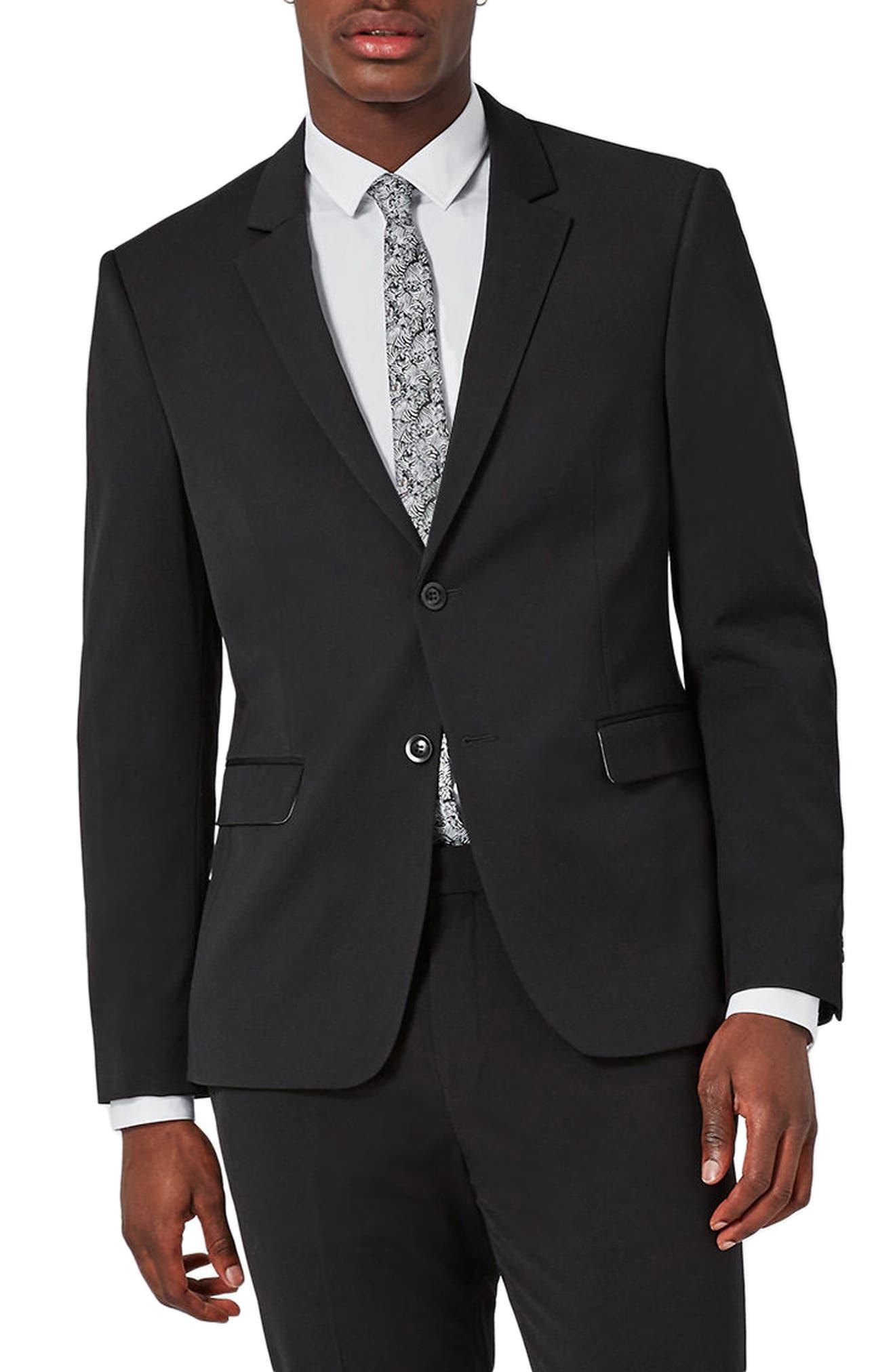 Muscle Fit Suit Jacket,                         Main,                         color, Black