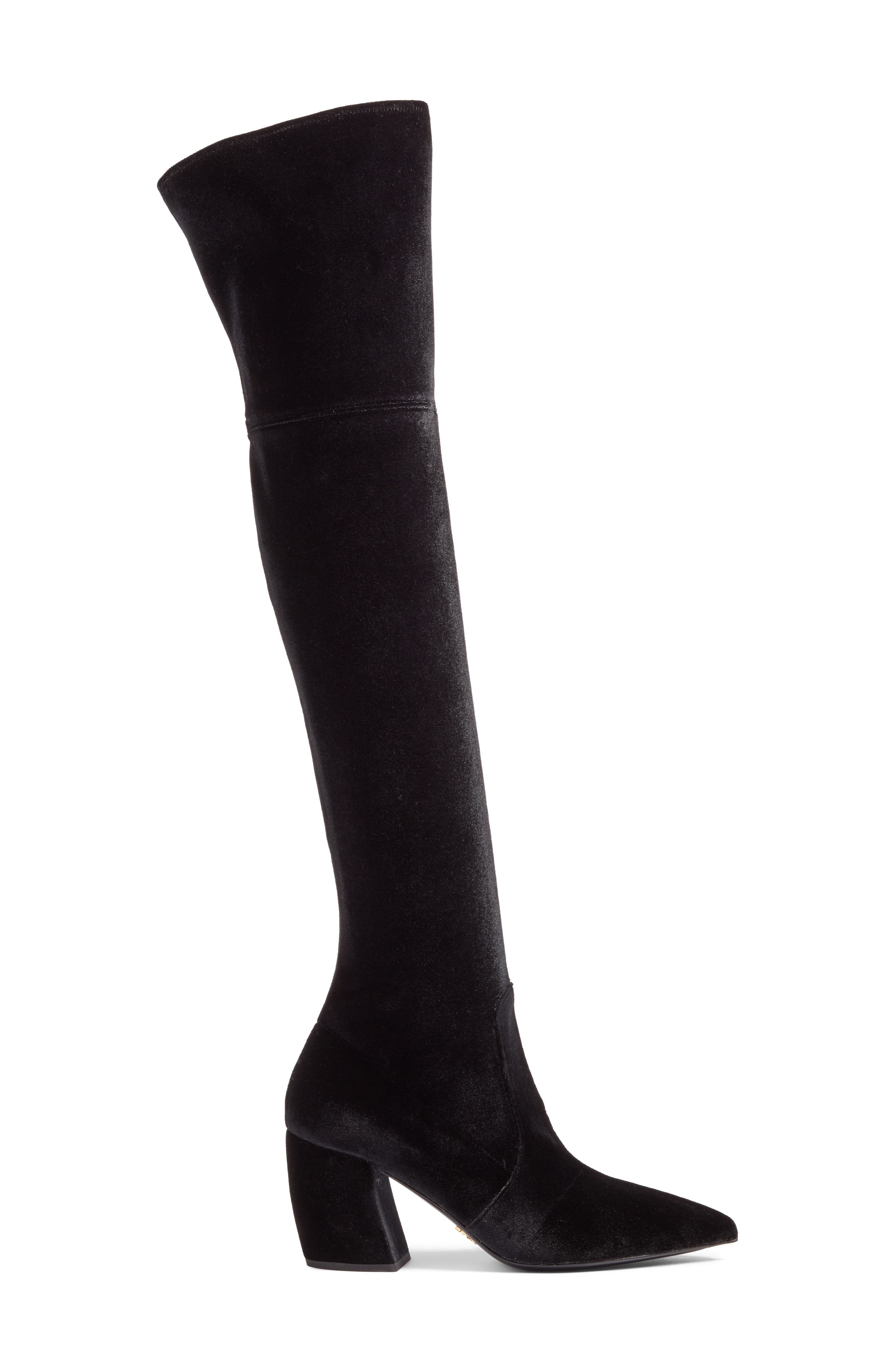 Over the Knee Boot,                             Alternate thumbnail 3, color,                             Black