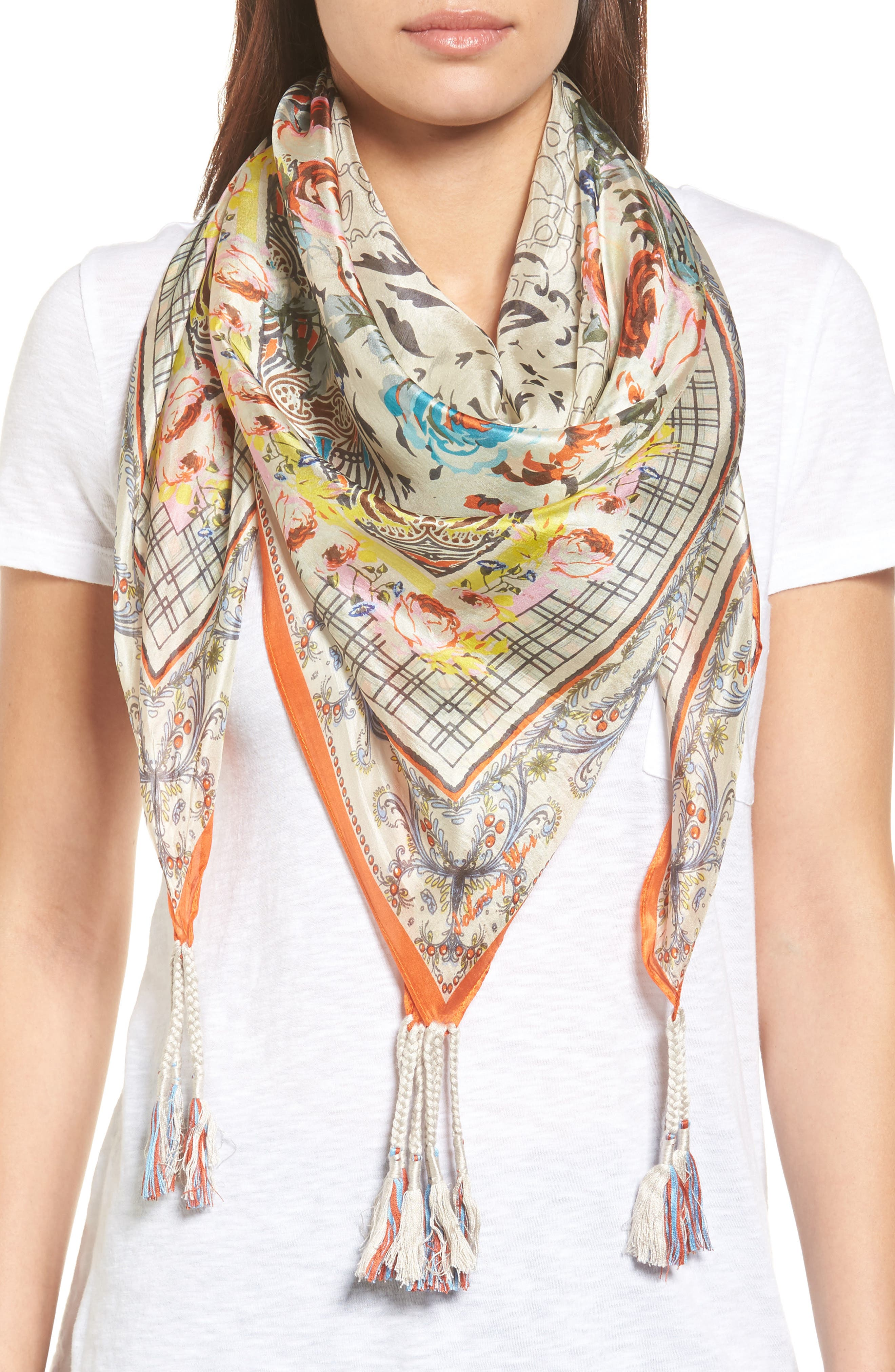 Main Image - Johnny Was Tribute Silk Square Scarf