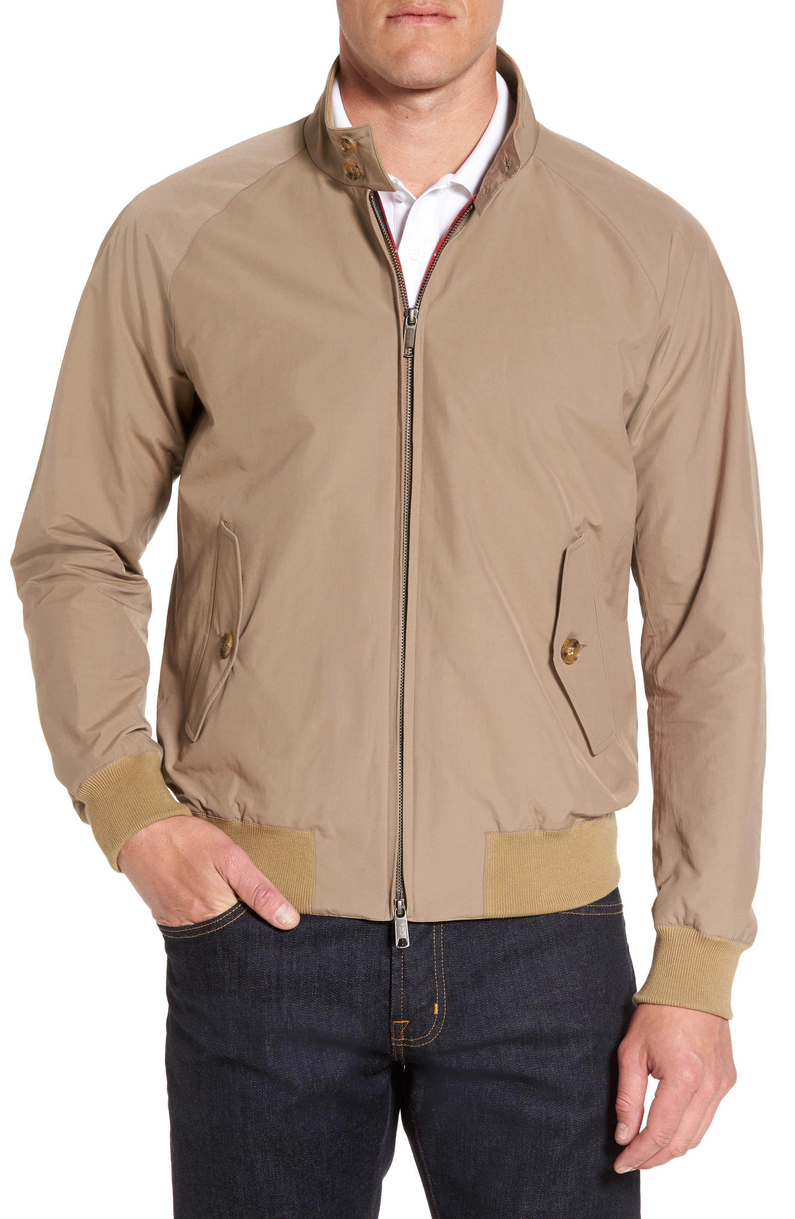G9 Water Resistant Harrington Jacket,                         Main,                         color, Tan