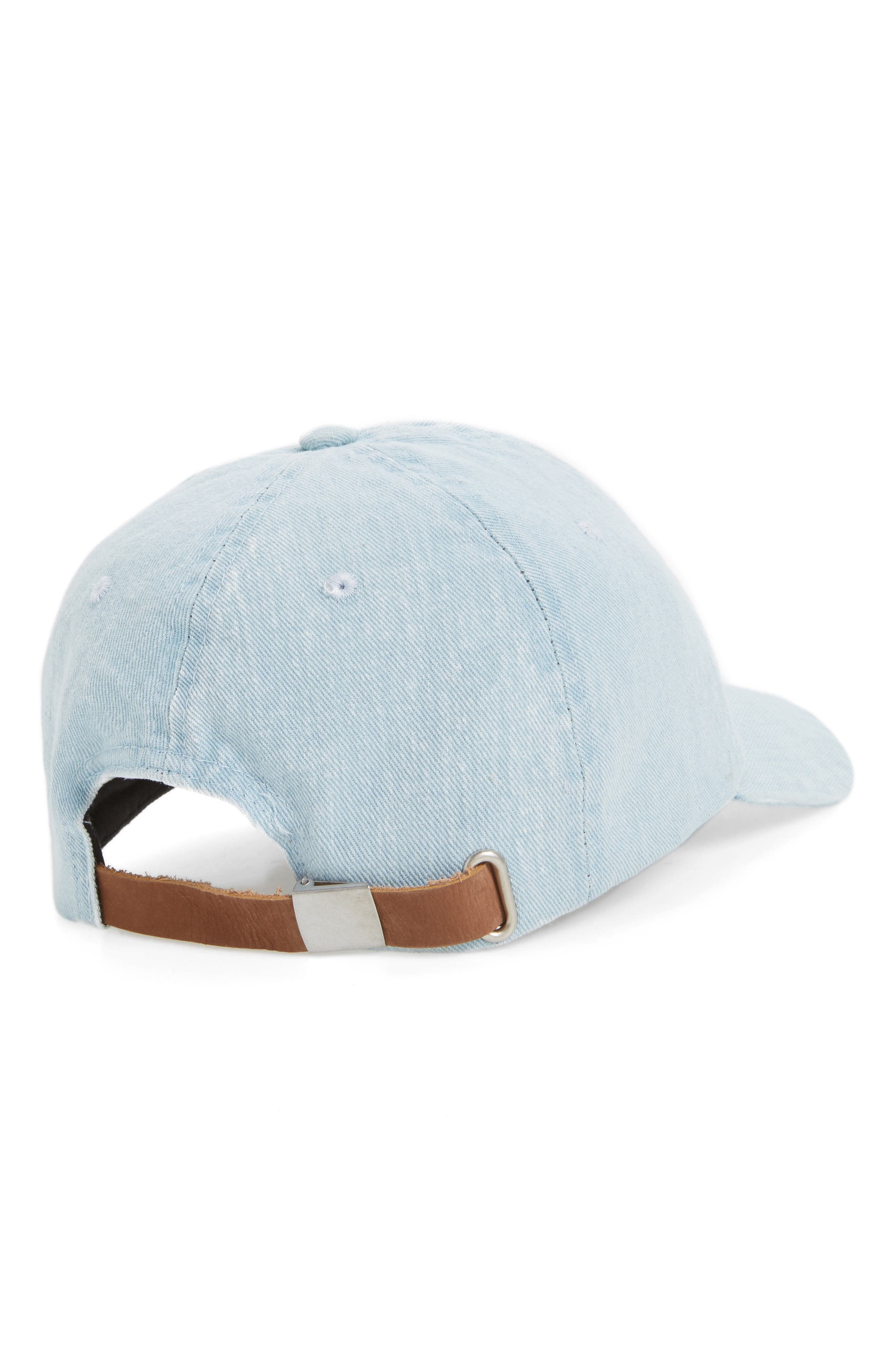 Alternate Image 2  - Topshop Denim Baseball Cap