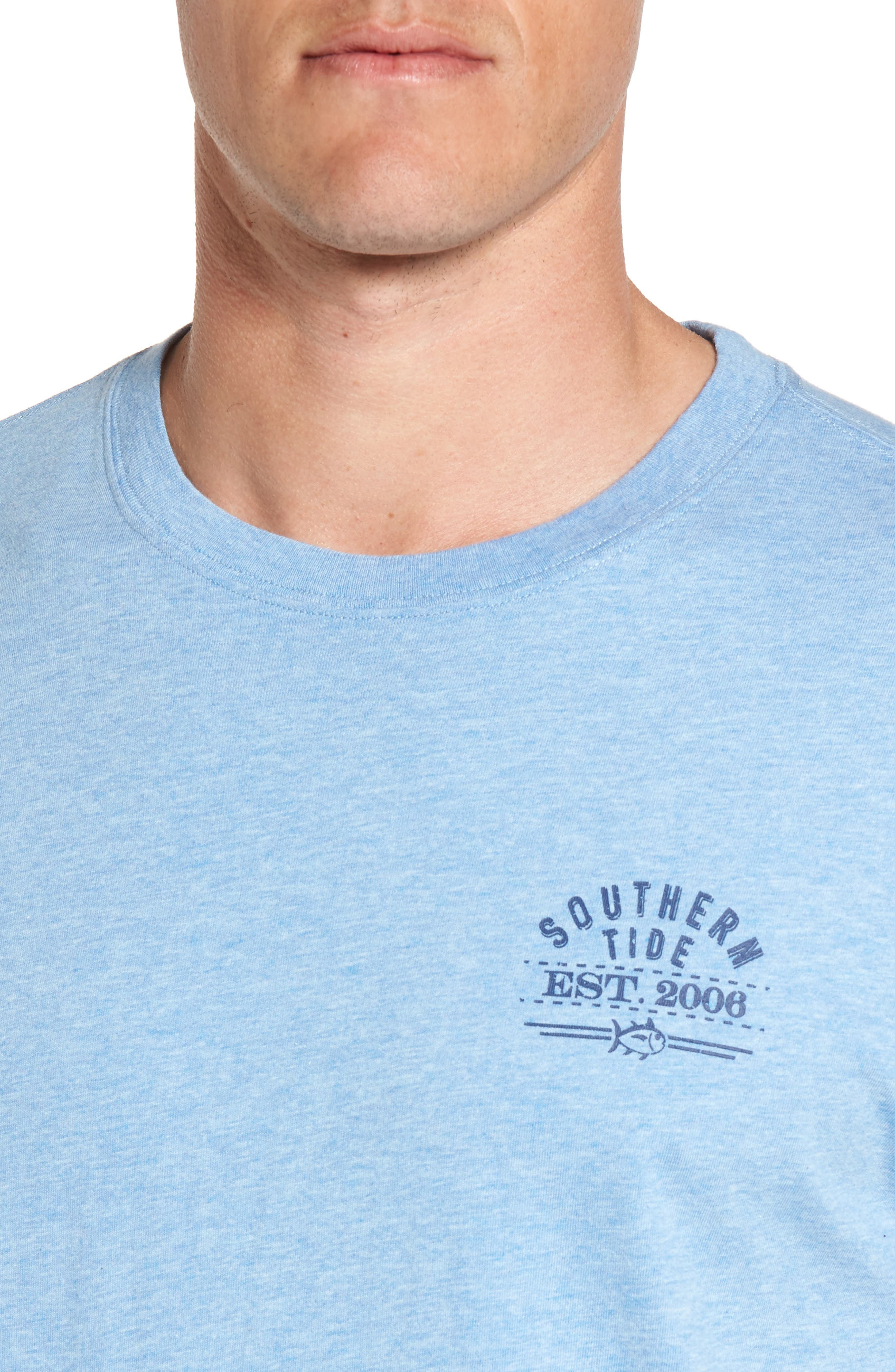 Alternate Image 4  - Southern Tide Bourbon Bottle Classic Fit Graphic T-Shirt