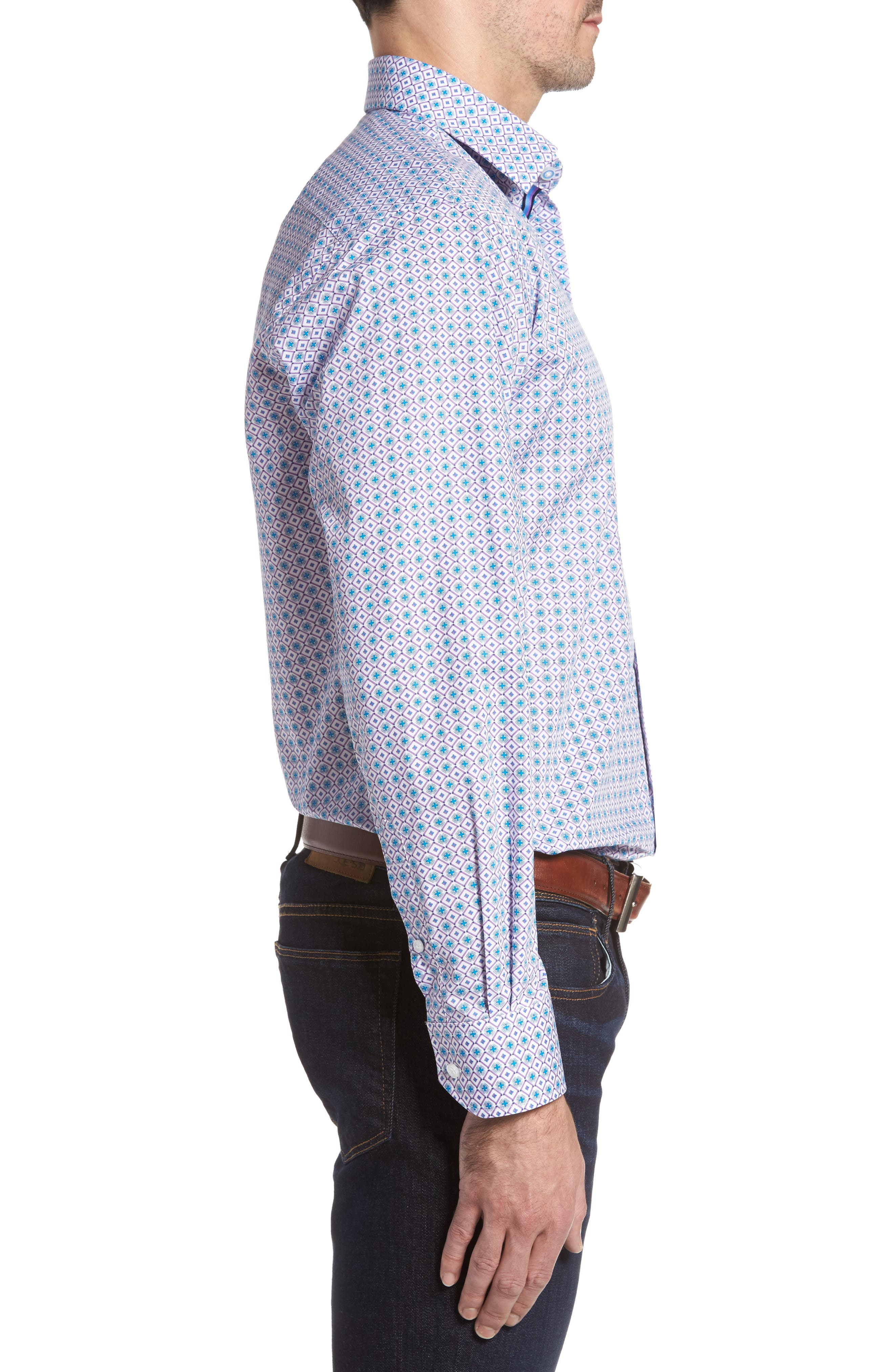 Alternate Image 3  - TailorByrd Sycamore Print Sport Shirt