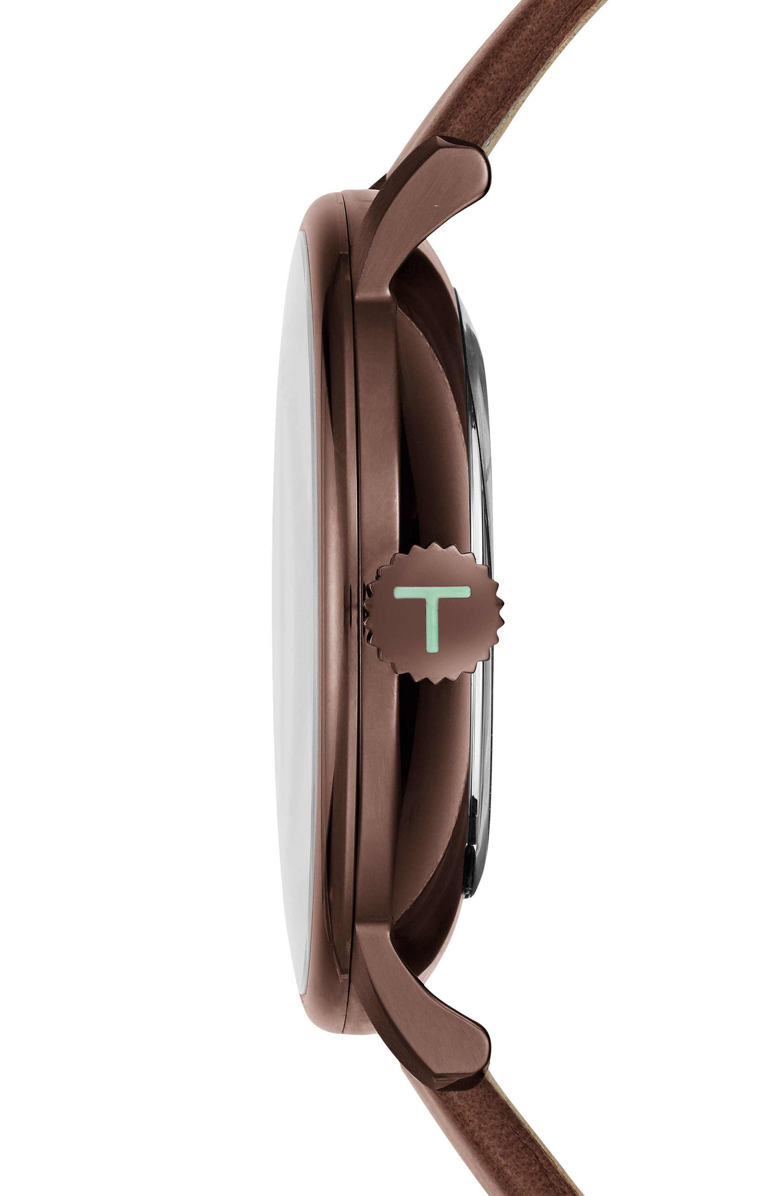 Alternate Image 3  - Ted Baker London James Multifunction Leather Strap Watch, 42mm