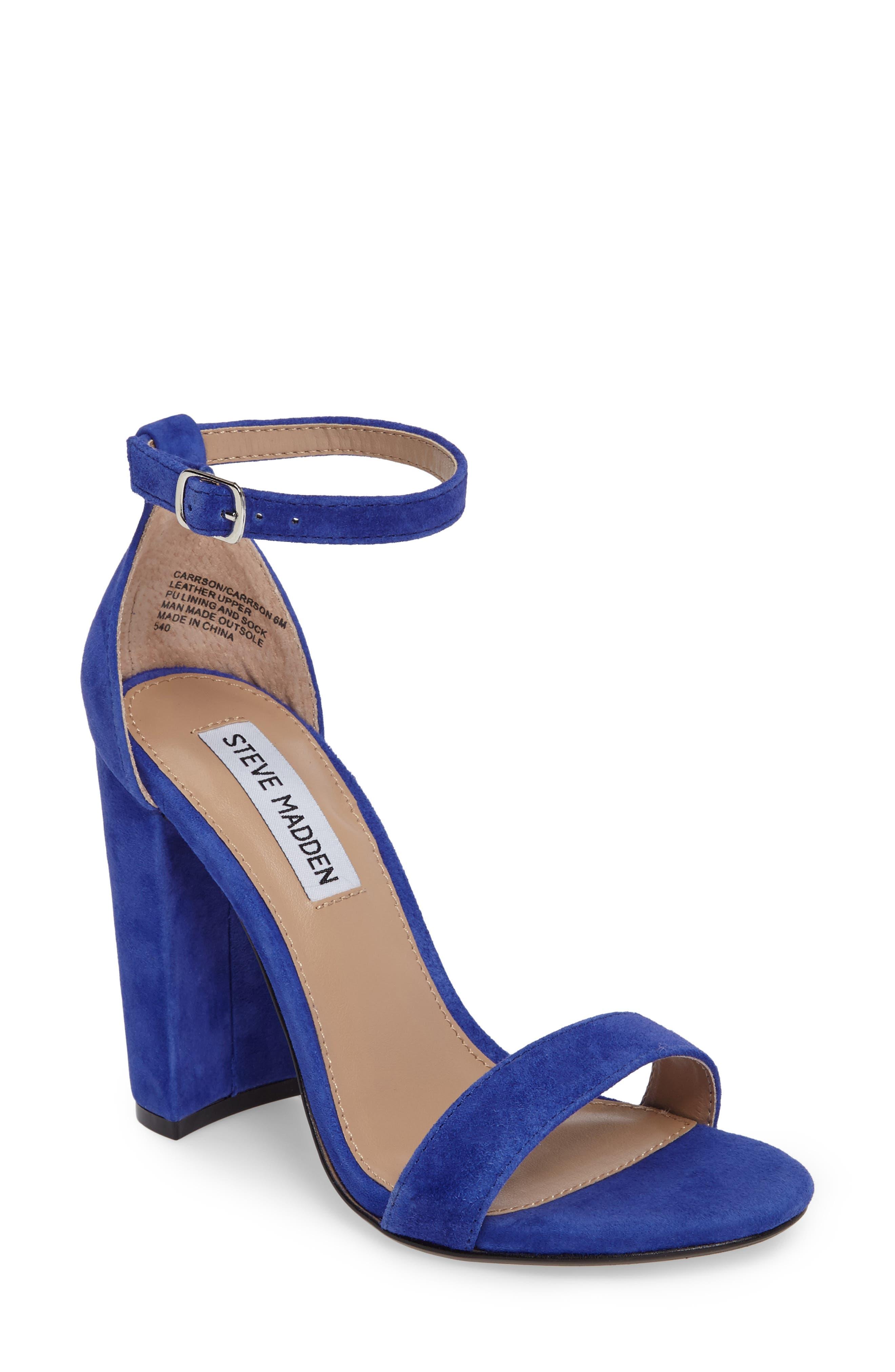 Blue Block Heels H8nDW9zP
