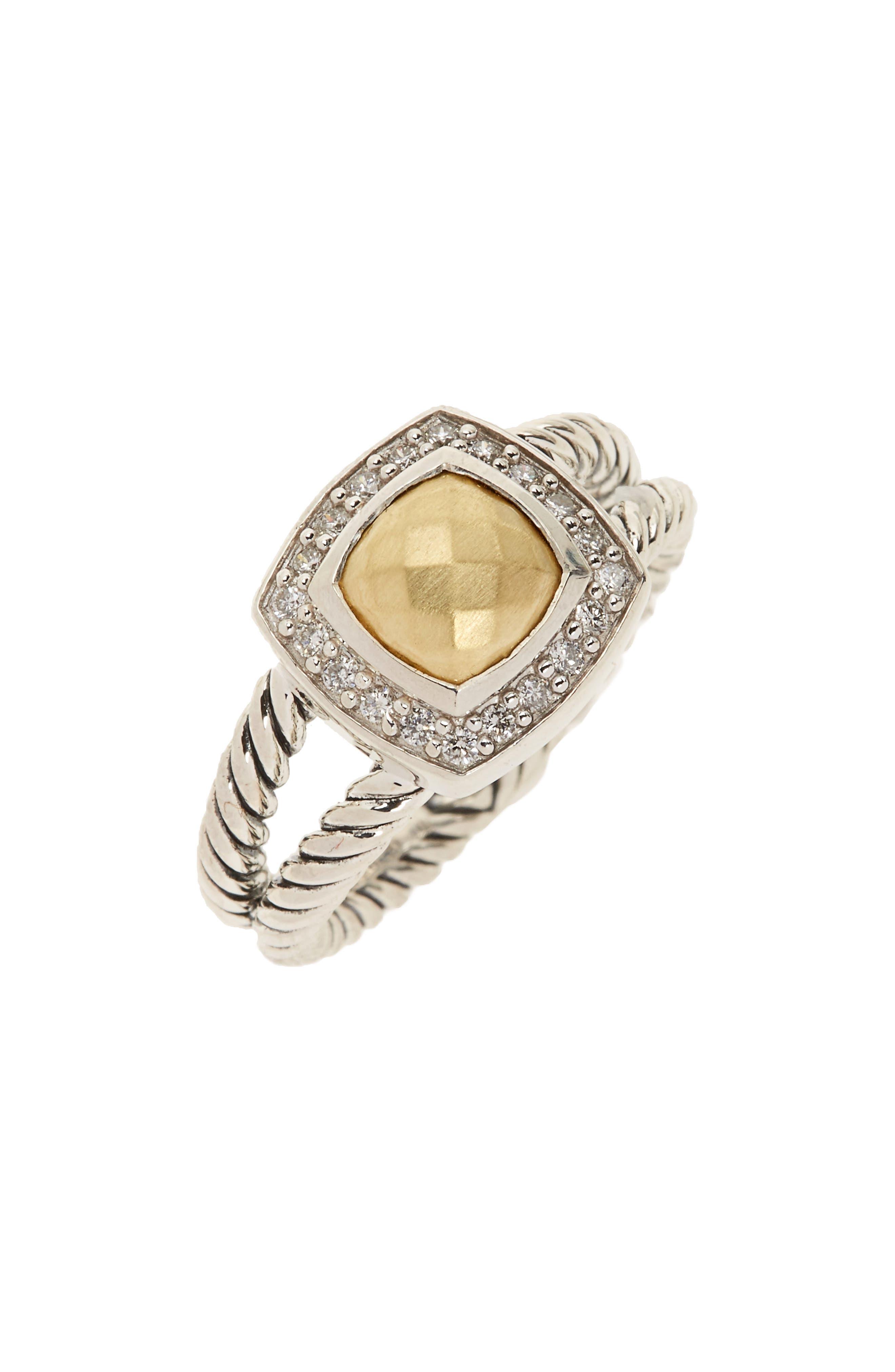 Alternate Image 1 Selected - David Yurman Petite Albion Ring with Semiprecious Stone & Diamonds