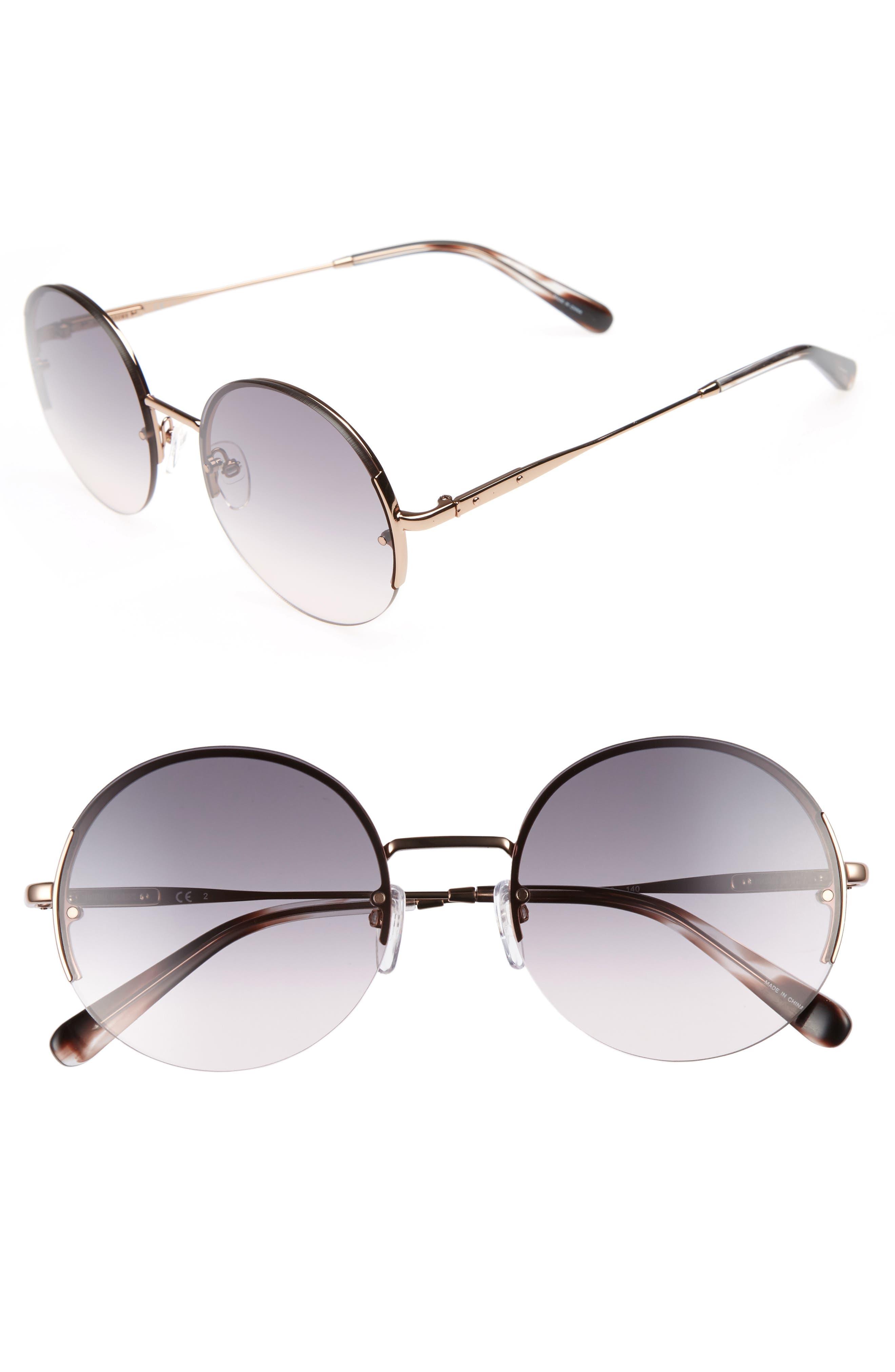 55mm Round Sunglasses,                         Main,                         color, Gold/ Copper