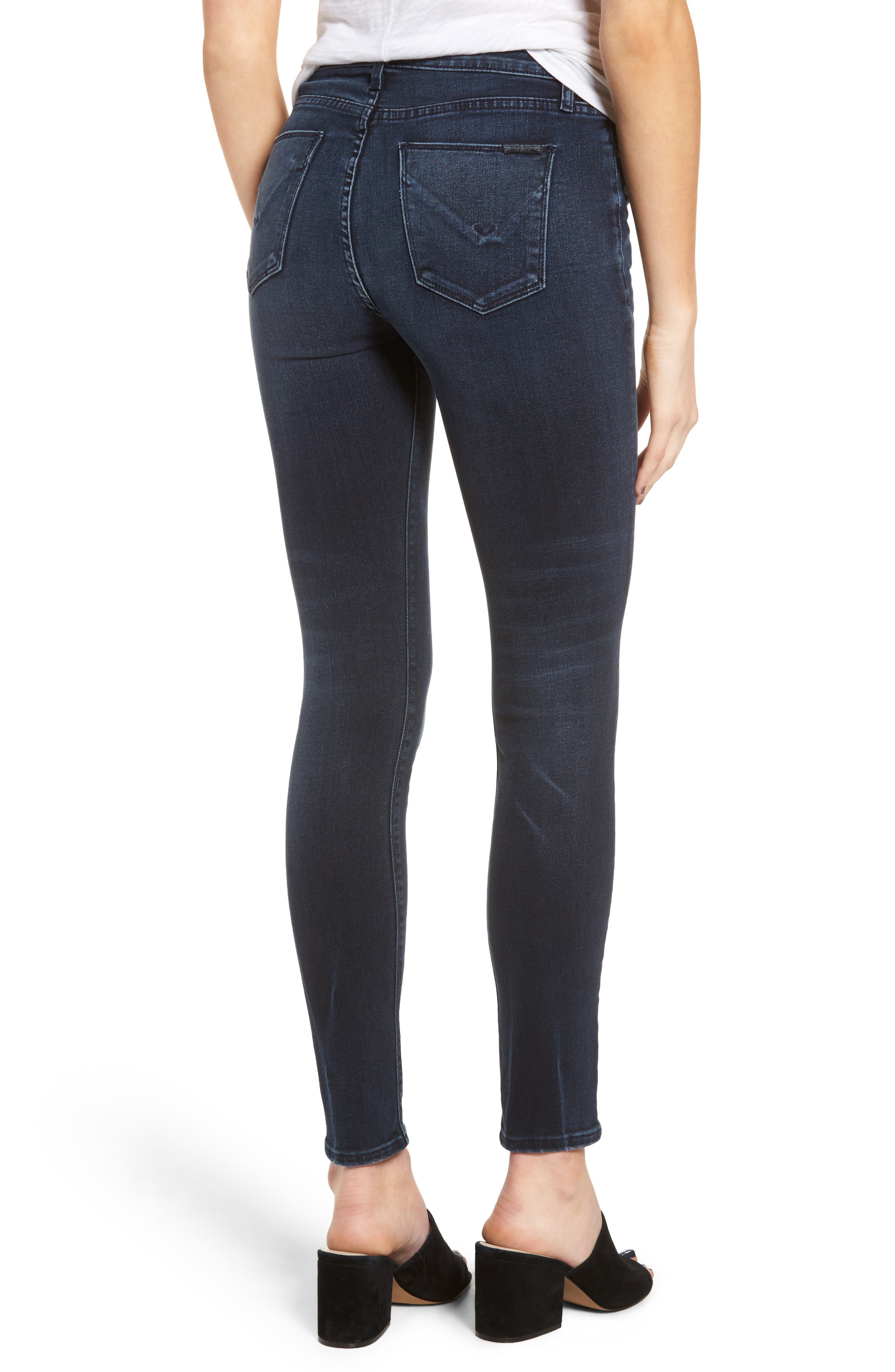 Hudson Barbara High Waist Super Skinny Jeans,                             Alternate thumbnail 2, color,                             Night Ryder