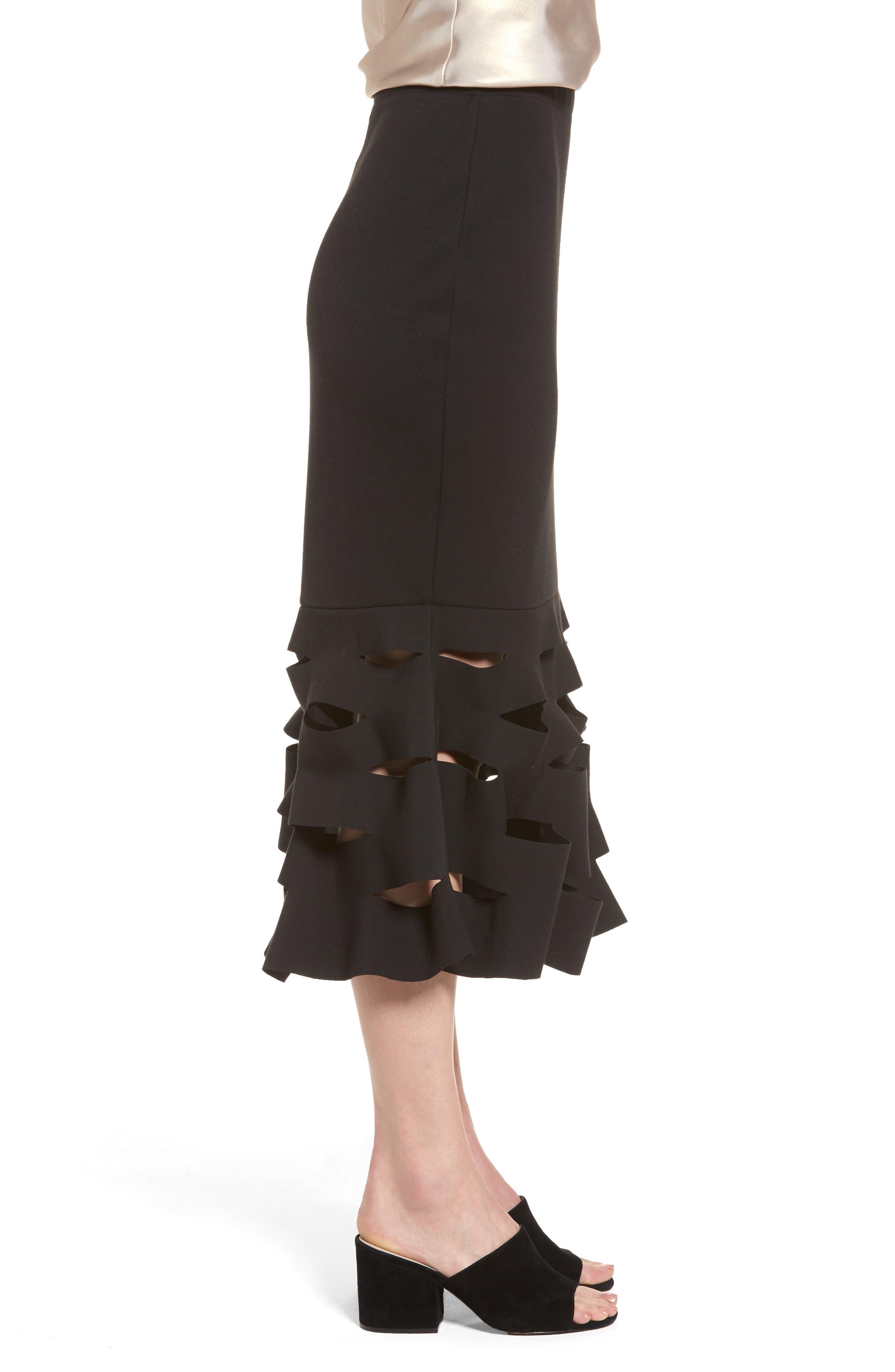 Alternate Image 3  - Trouvé Slash Bonded Midi Skirt