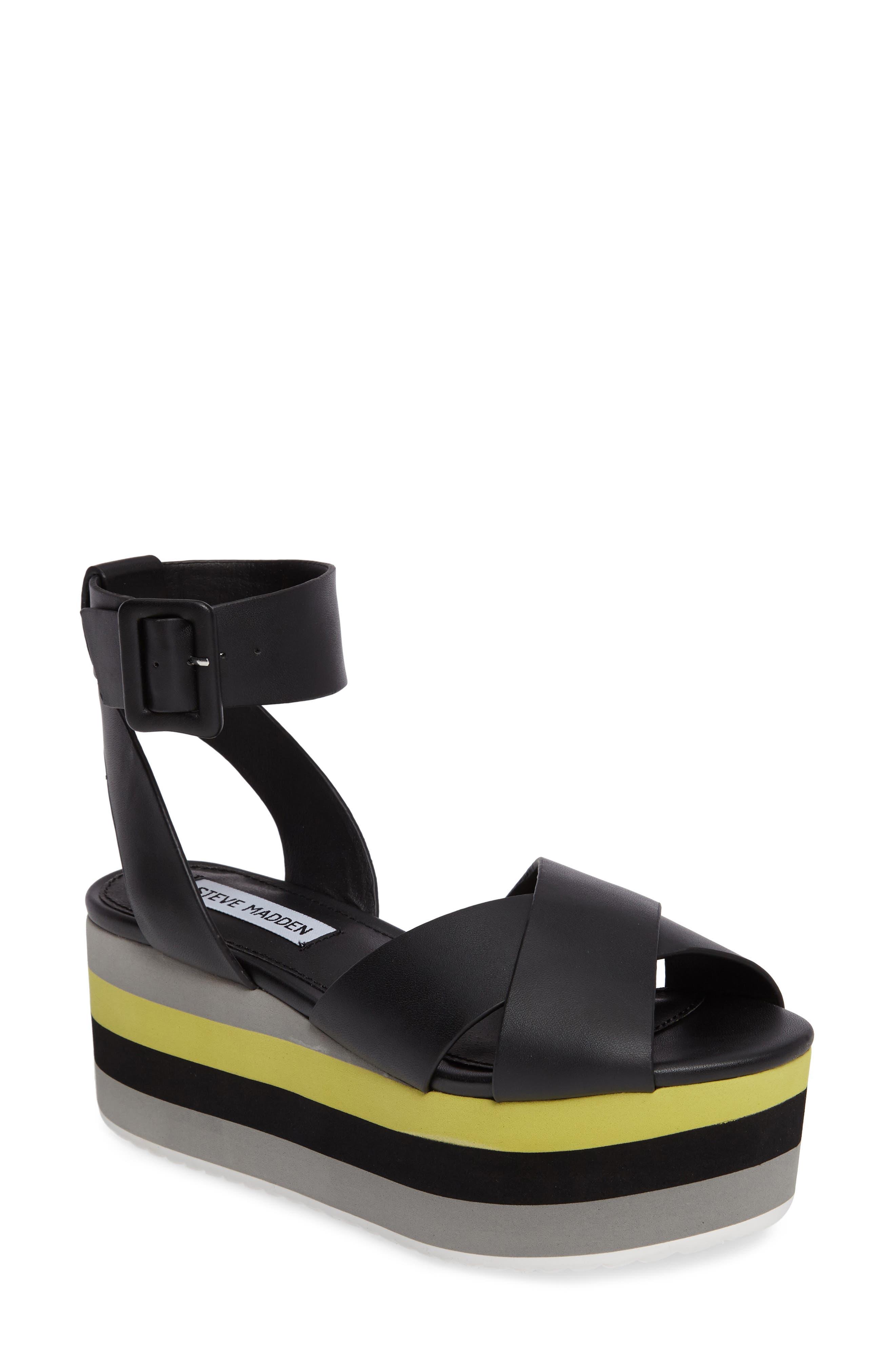 Alternate Image 1 Selected - Steve Madden Macer Cuffed Platform Sandal (Women)