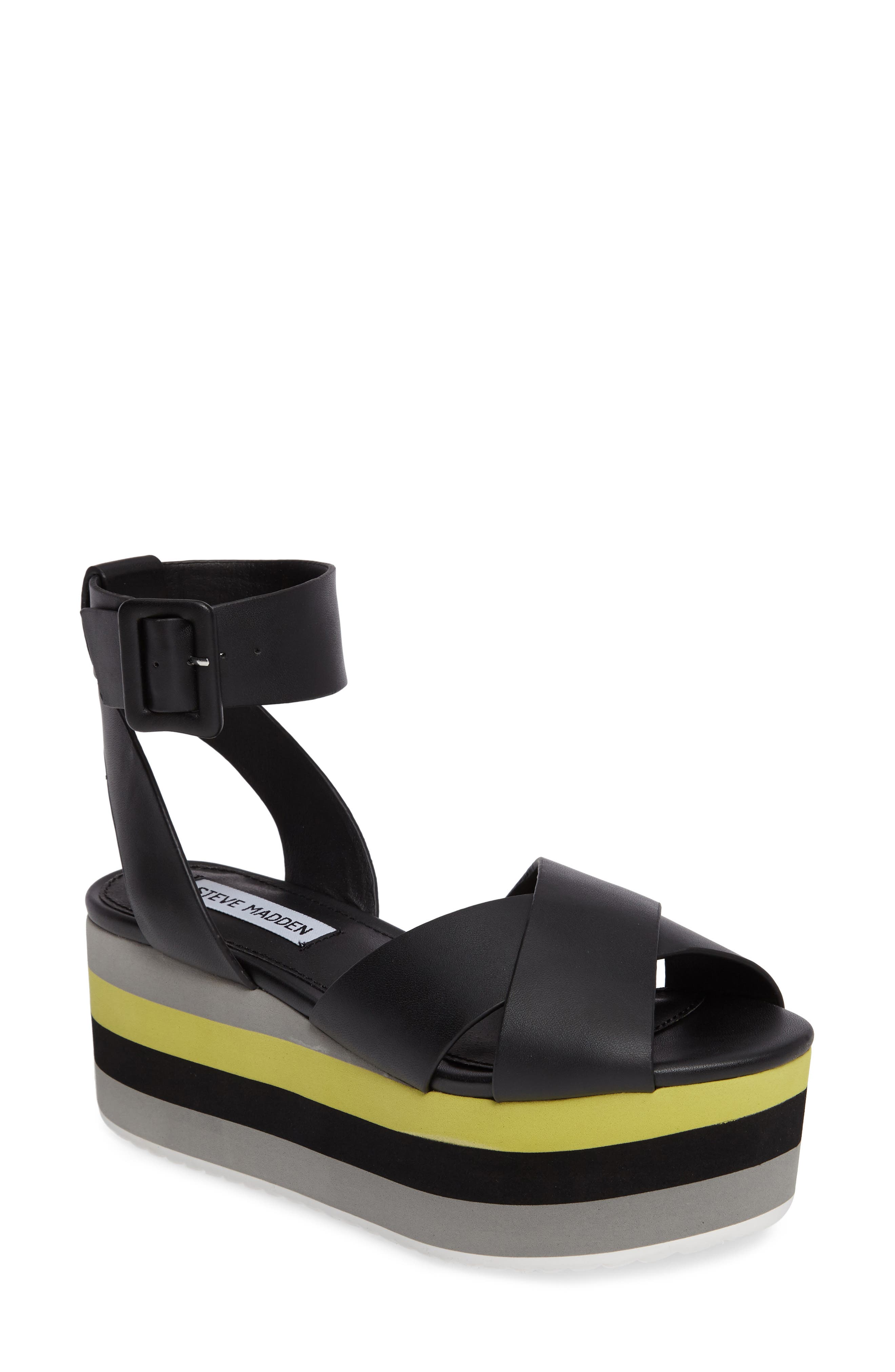 Main Image - Steve Madden Macer Cuffed Platform Sandal (Women)