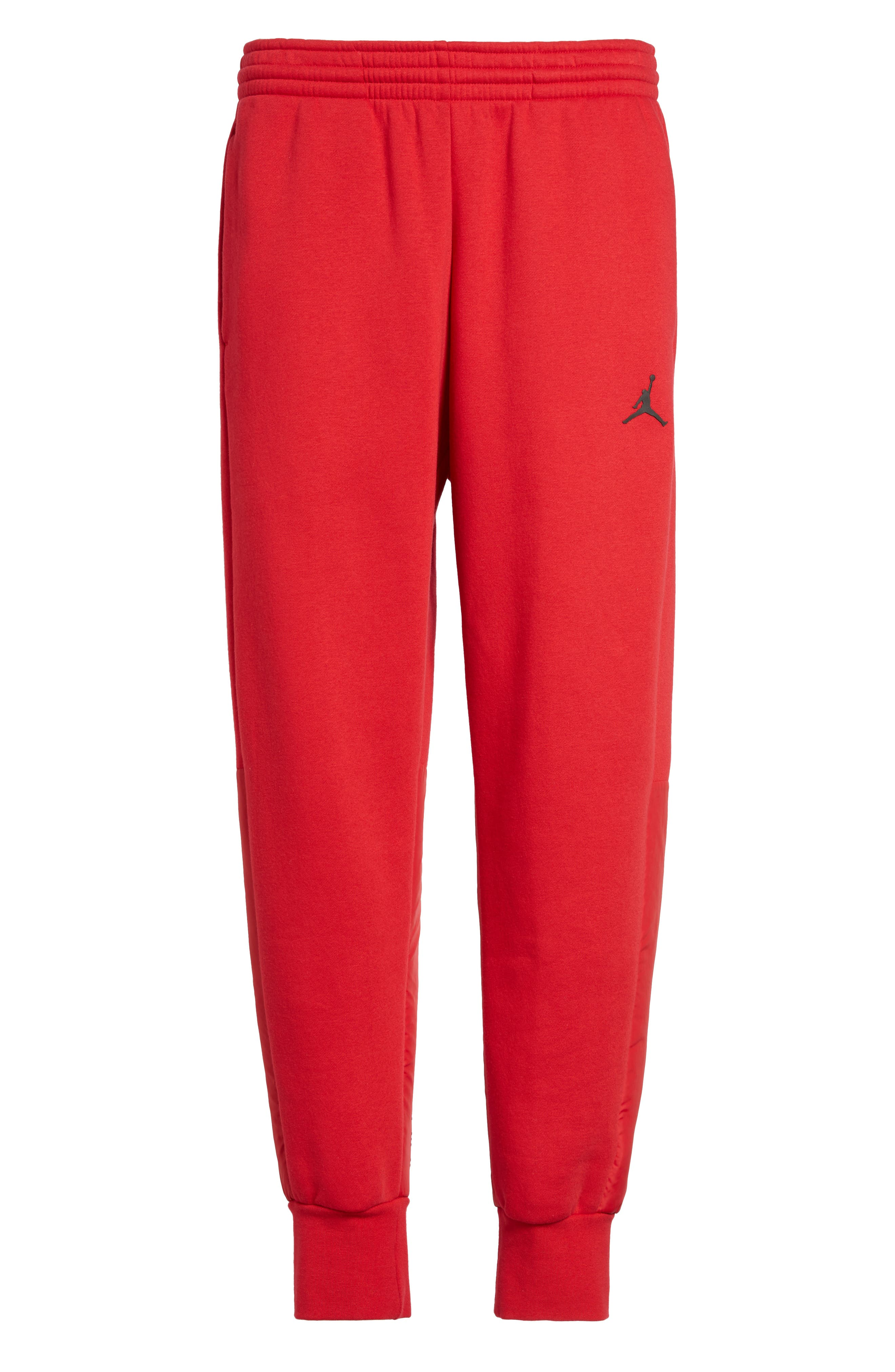Jordan AJ11 Hybrid Pants,                             Alternate thumbnail 6, color,                             Gym Red