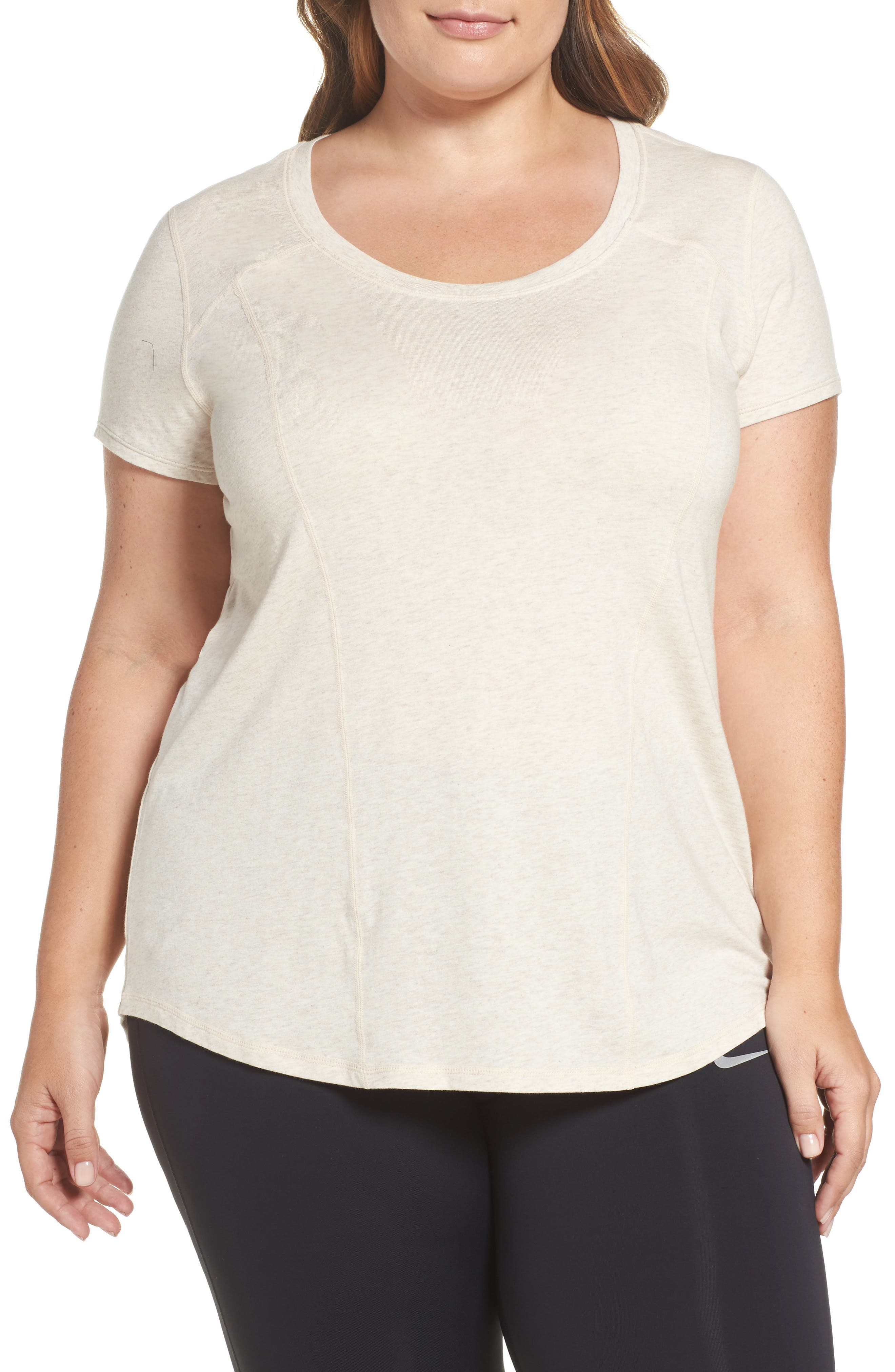 Zella 'Siesta' Short Sleeve Tee (Plus Size)