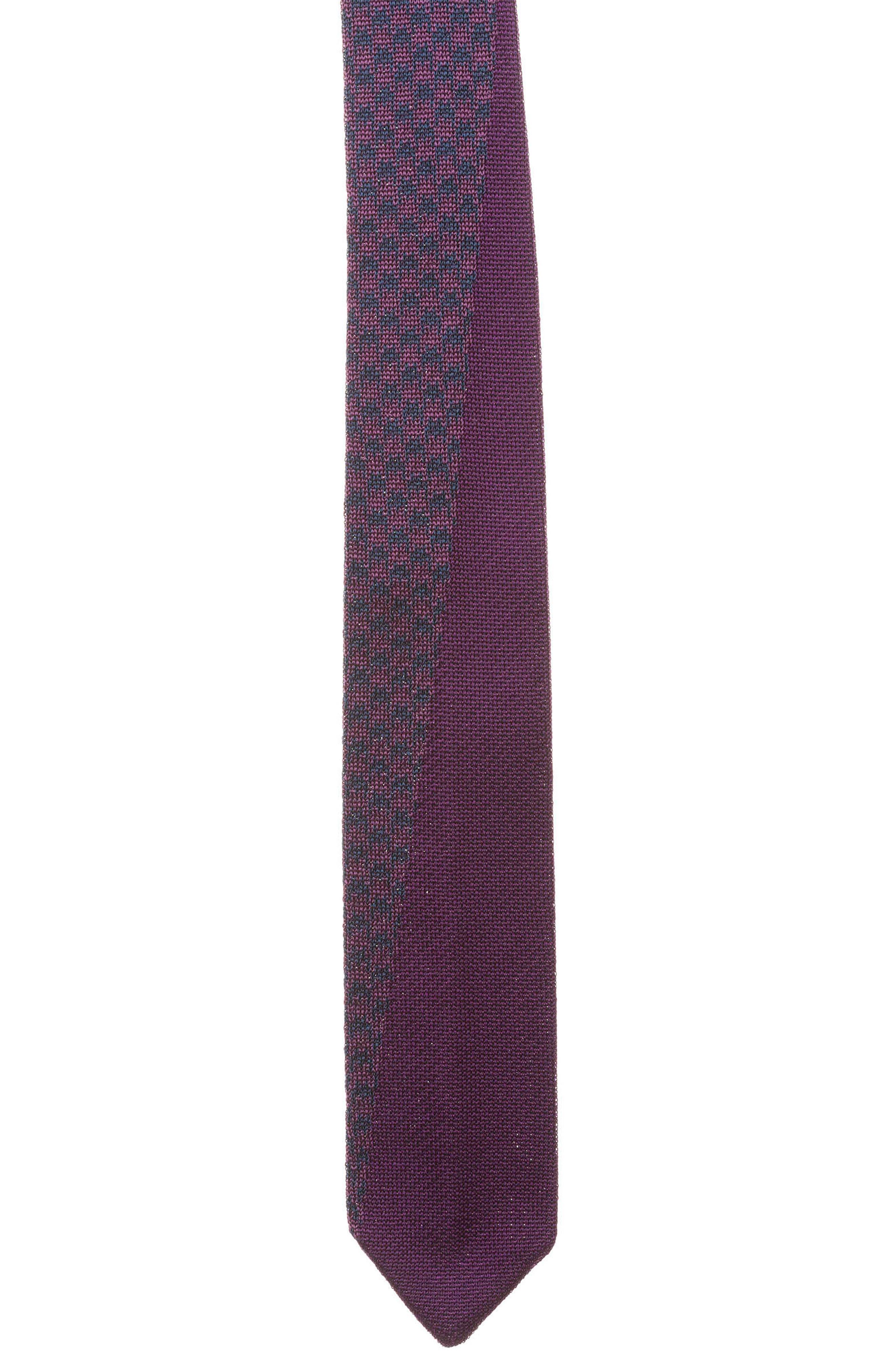 Knit Silk Tie,                             Main thumbnail 1, color,                             Purple