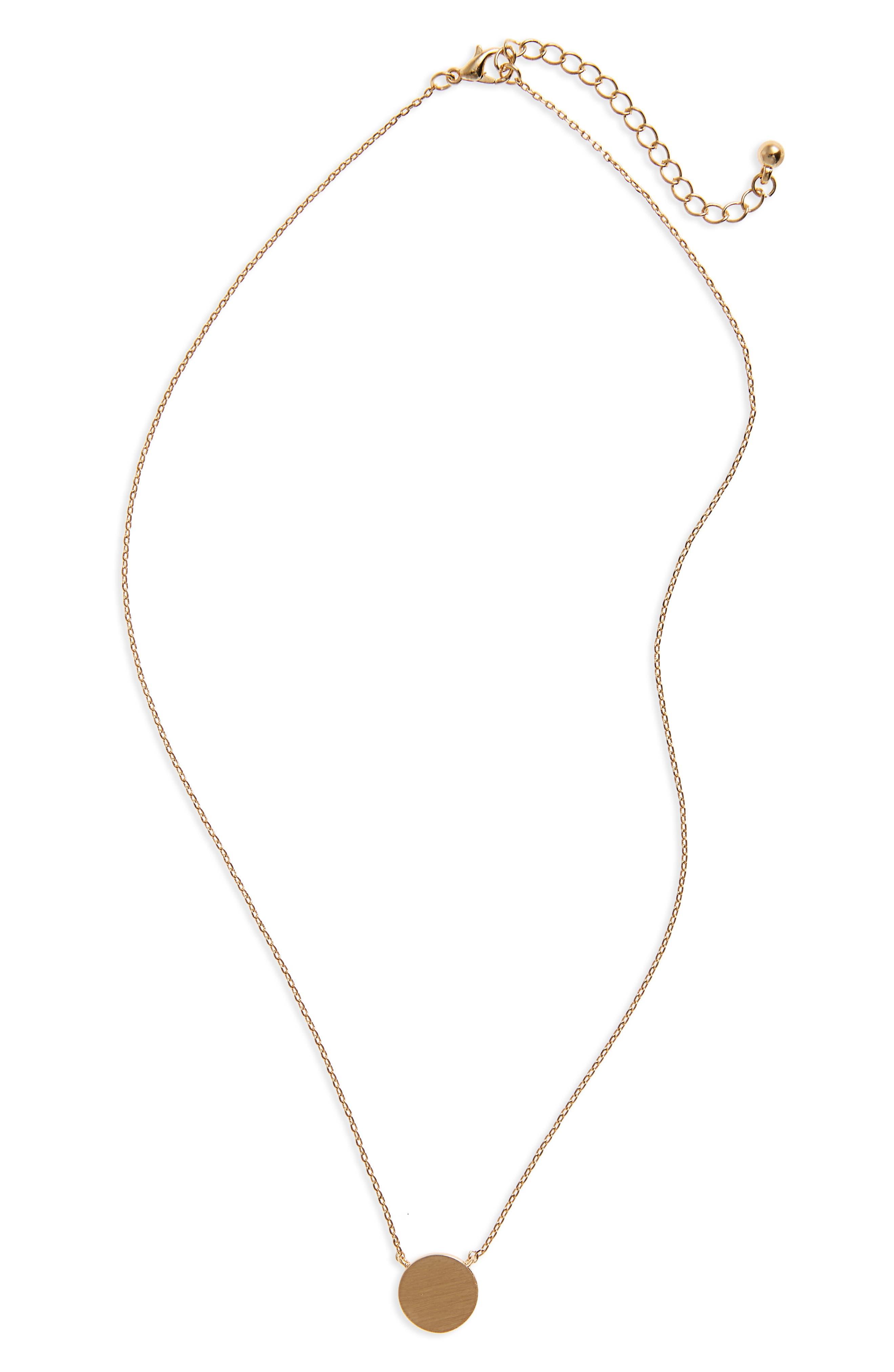 Main Image - BP. Circle Charm Necklace