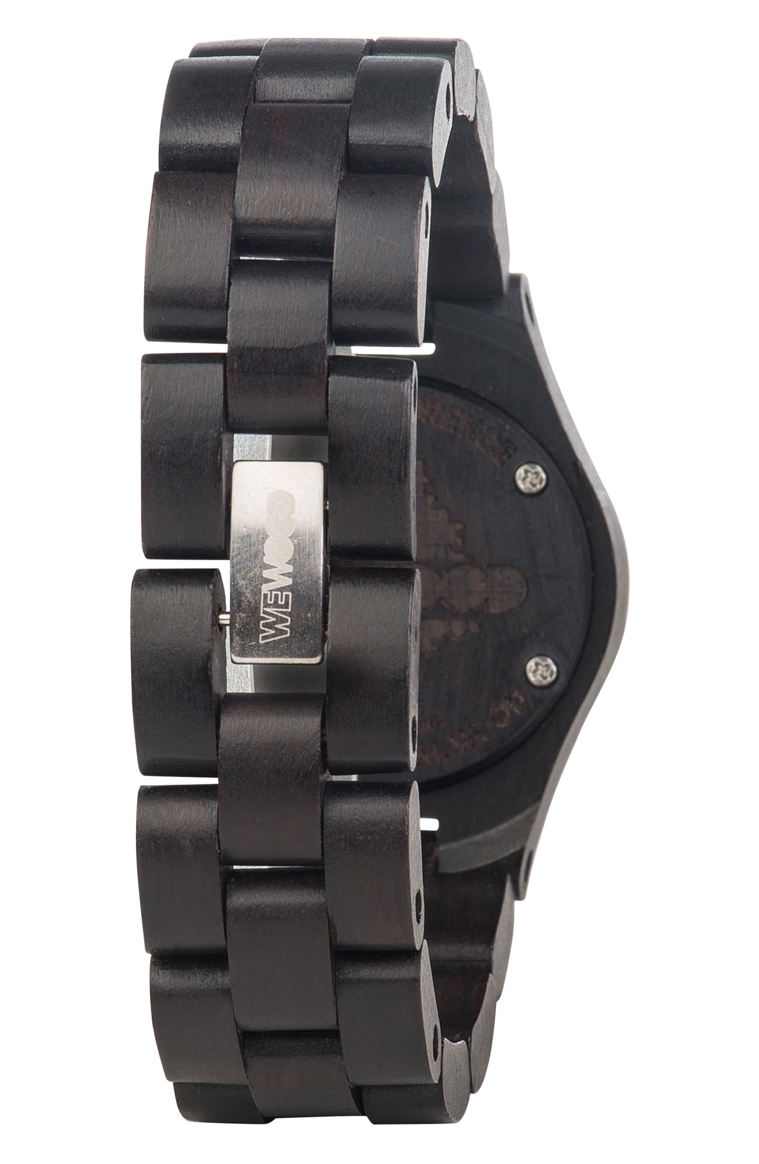 Criss Wood Bracelet Watch, 31mm,                             Alternate thumbnail 2, color,                             Black