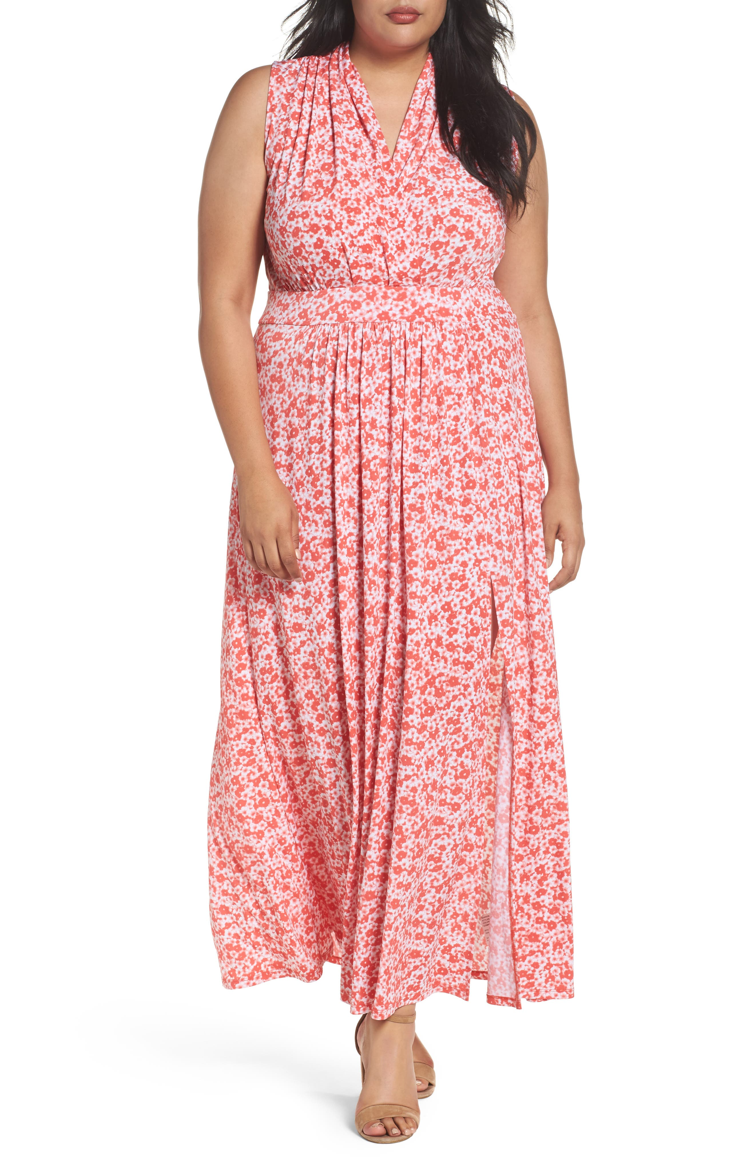 MICHAEL Michael Kors Lydia Print Maxi Dress (Plus Size)