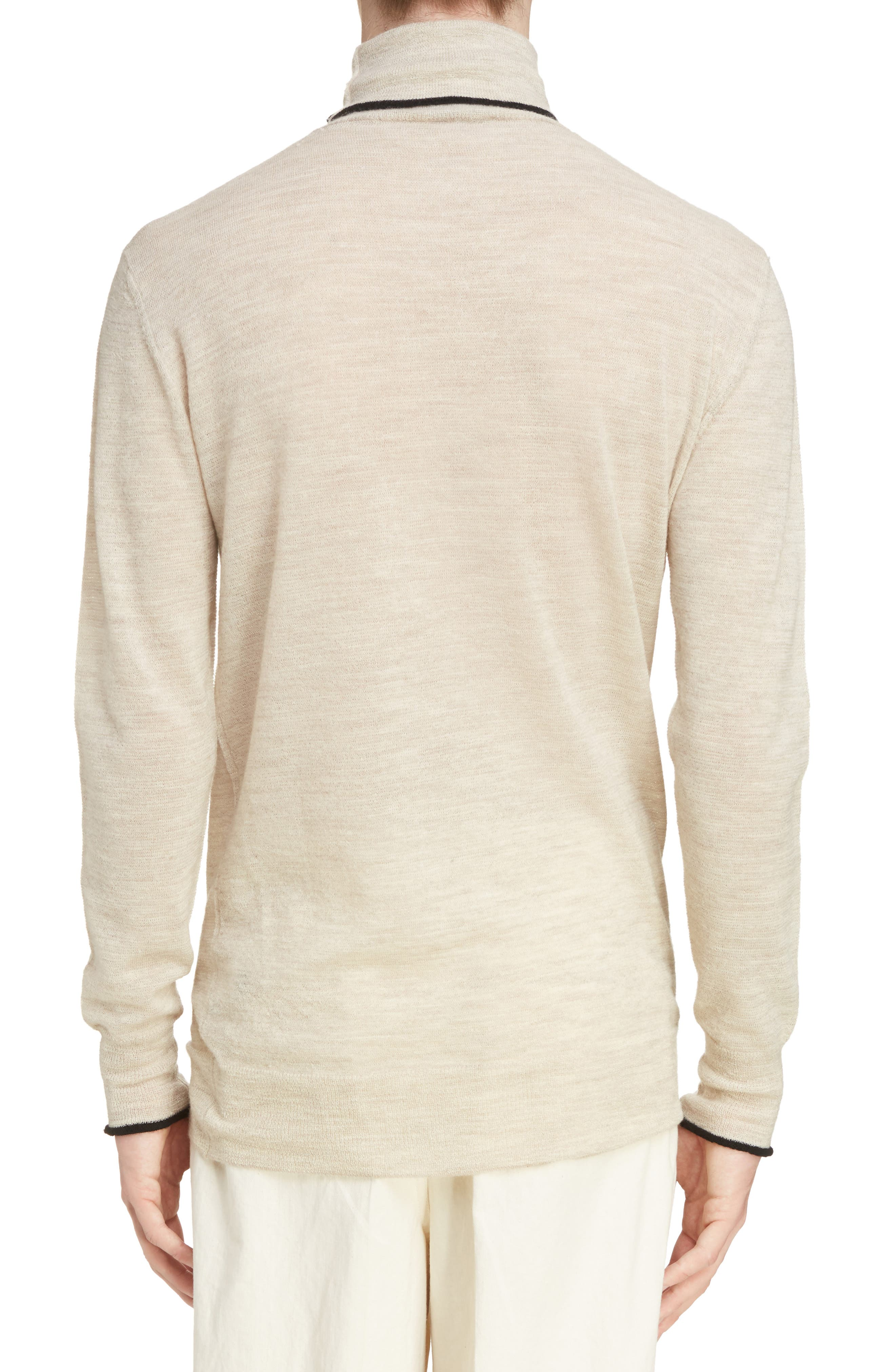 Alternate Image 2  - Lanvin Contrast Tipped Wool Turtleneck