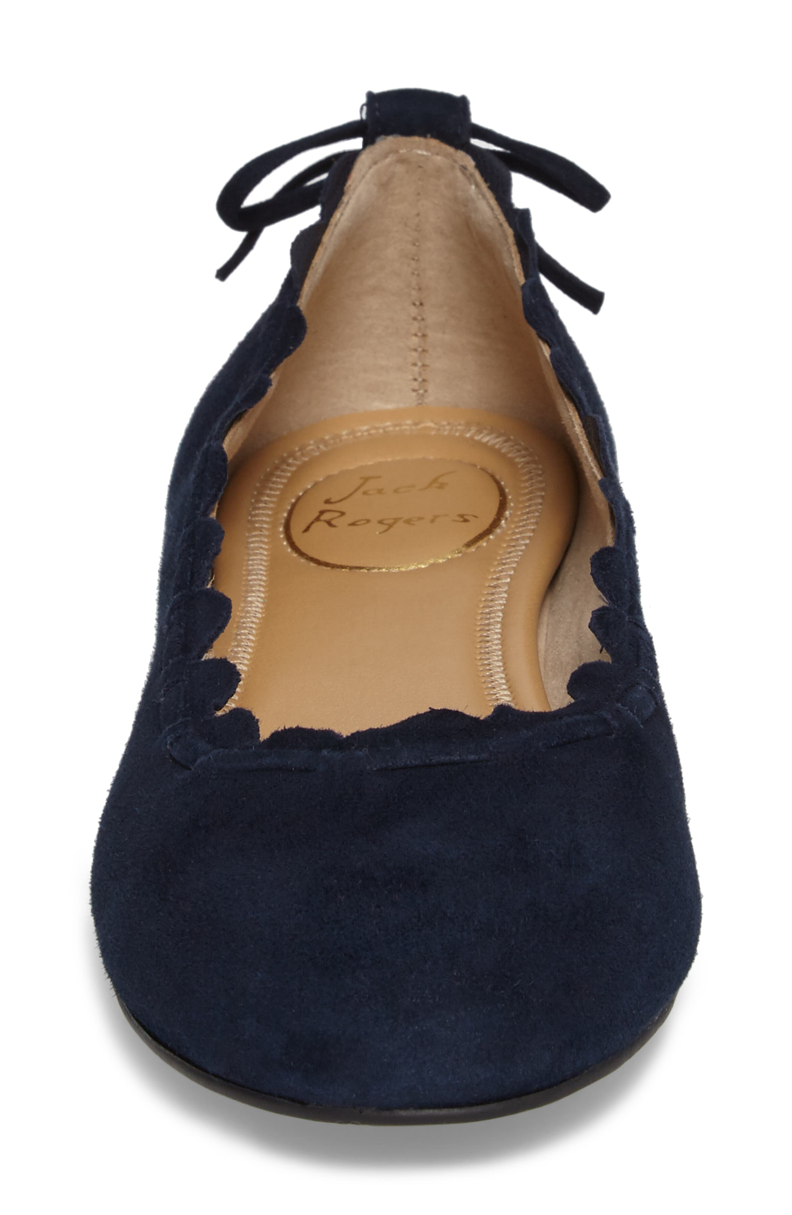 Alternate Image 4  - Jack Rogers Lucie Scalloped Flat (Women)