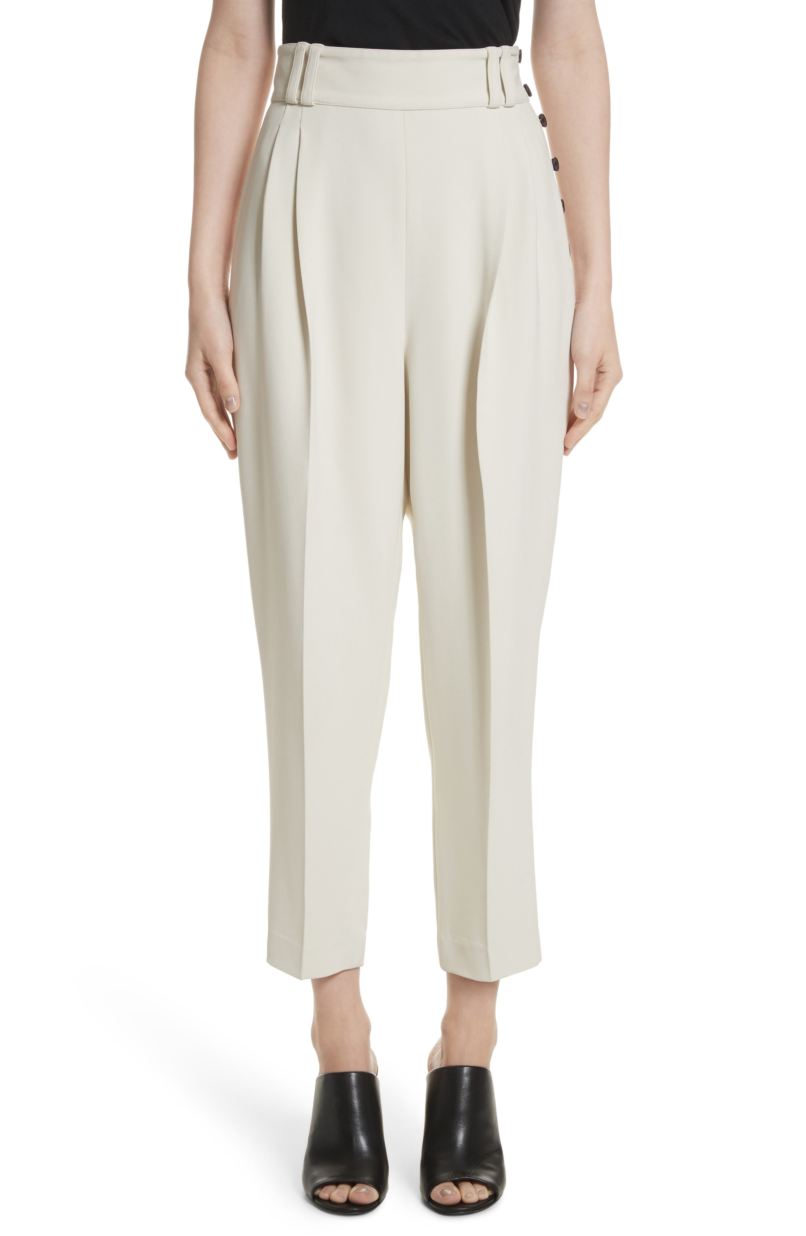 Alternate Image 1 Selected - 3.1 Phillip Lim Side Button Crop Pants