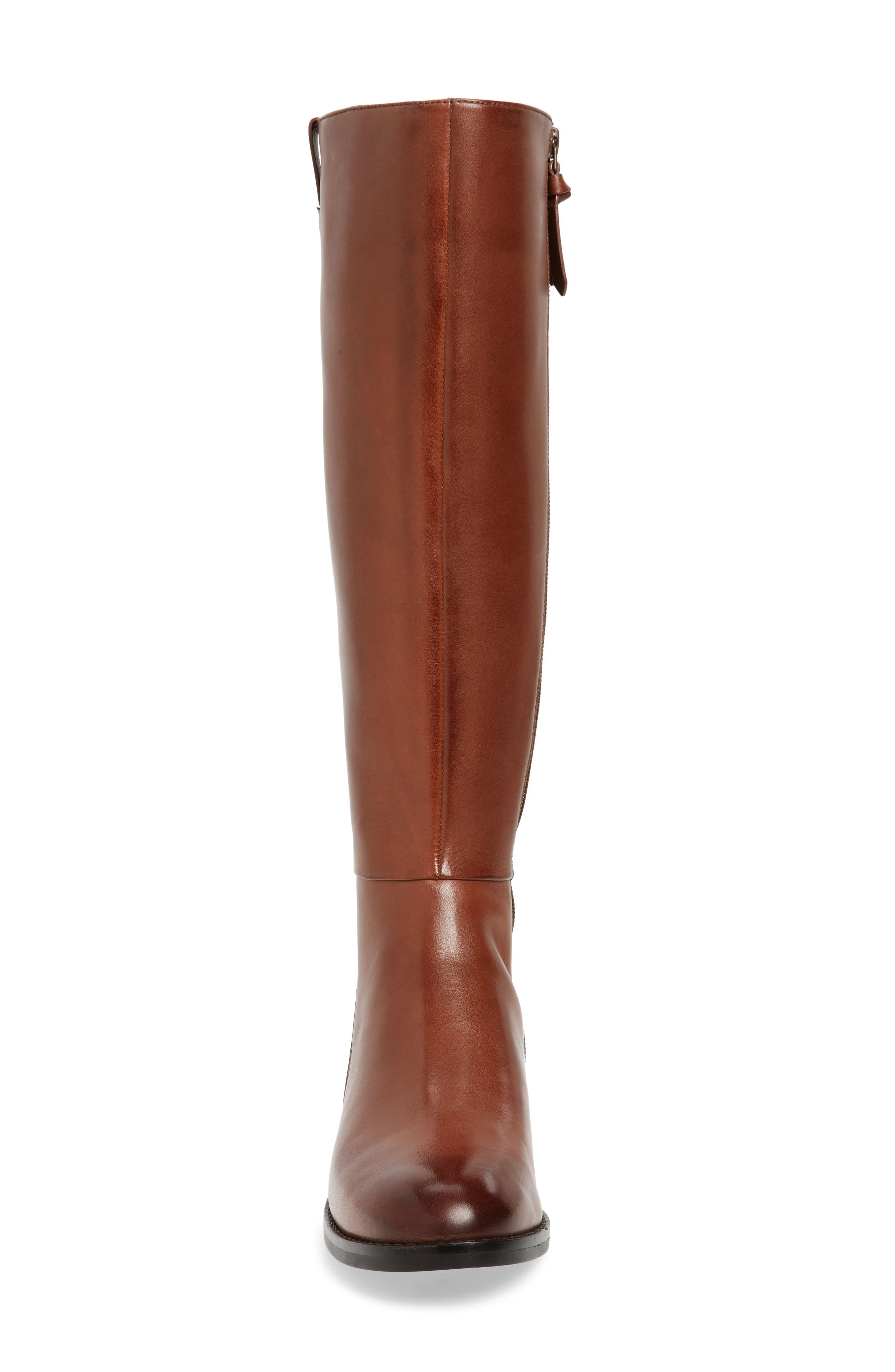 Katrina Riding Boot,                             Alternate thumbnail 5, color,                             Harvest Brown Leather
