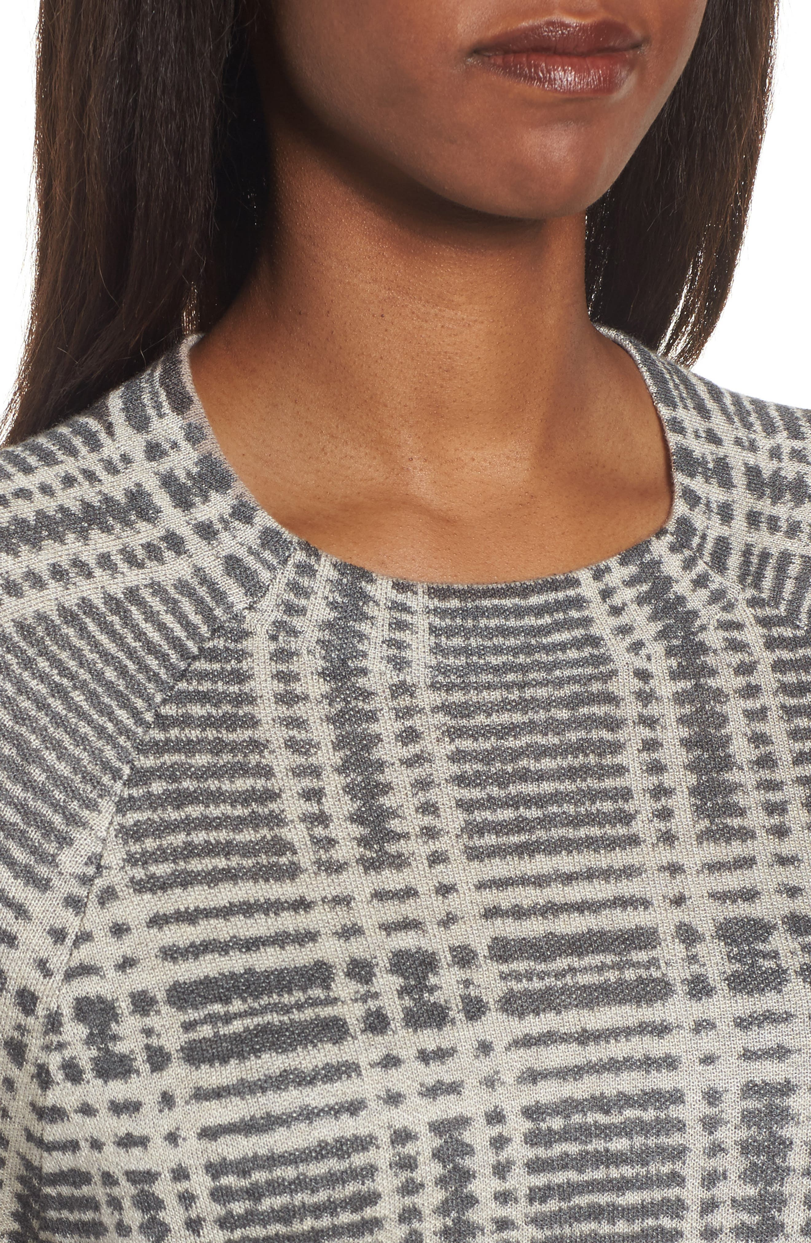 Alternate Image 4  - Eileen Fisher Plaid Tencel® & Wool Boxy Sweater