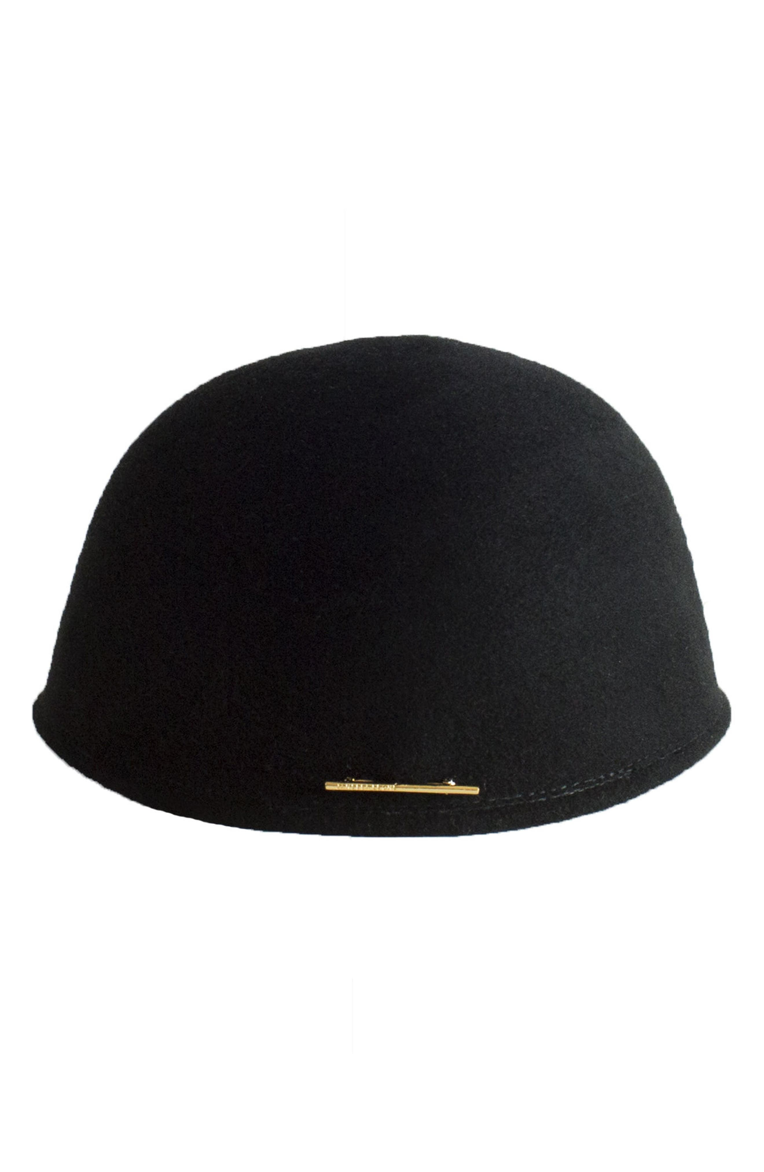 Parker Wool Hat,                             Alternate thumbnail 2, color,                             Black