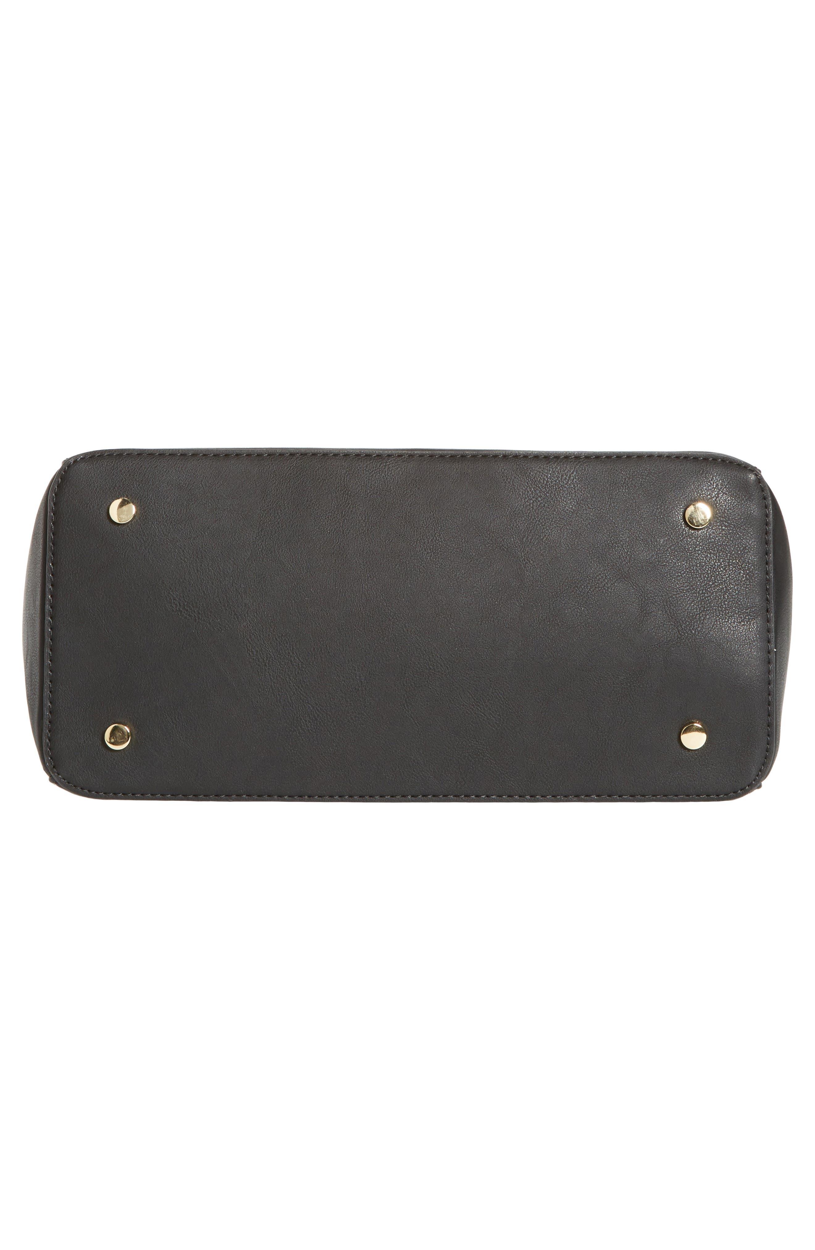 Alternate Image 4  - Sole Society Lexington Whipstitch Faux Leather Satchel