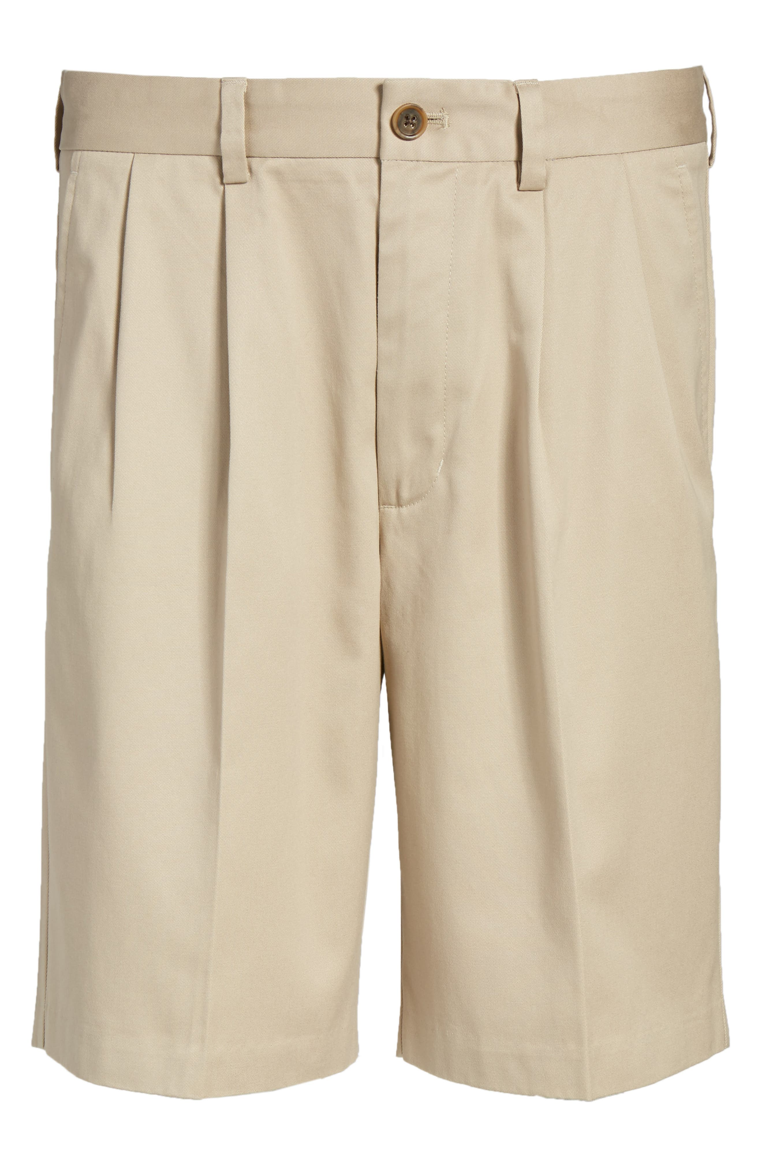 Smartcare<sup>™</sup> Pleated Shorts,                             Alternate thumbnail 6, color,                             Tan